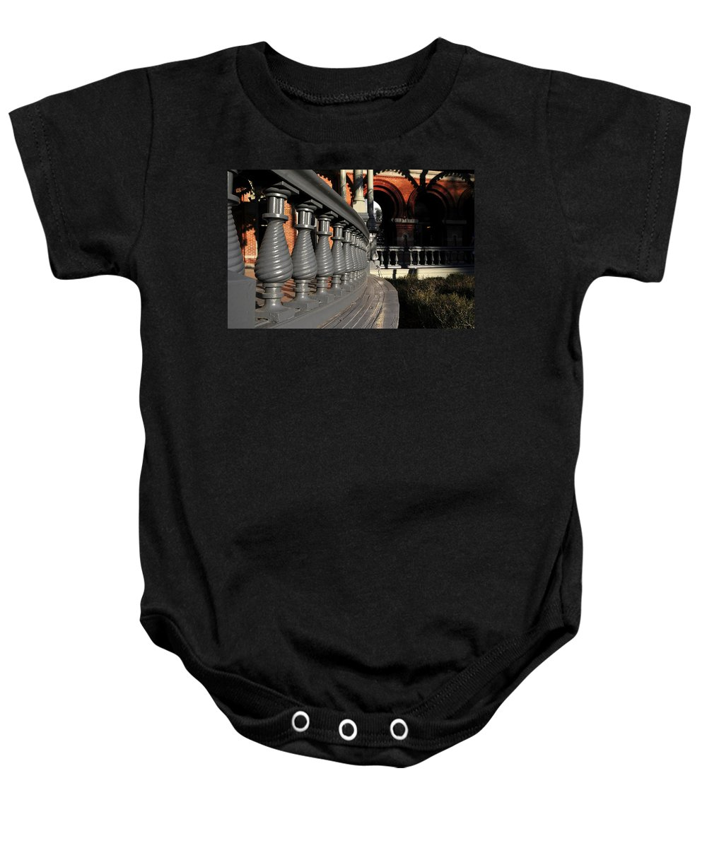 Fine Art Photography Baby Onesie featuring the photograph University Balustrades by David Lee Thompson