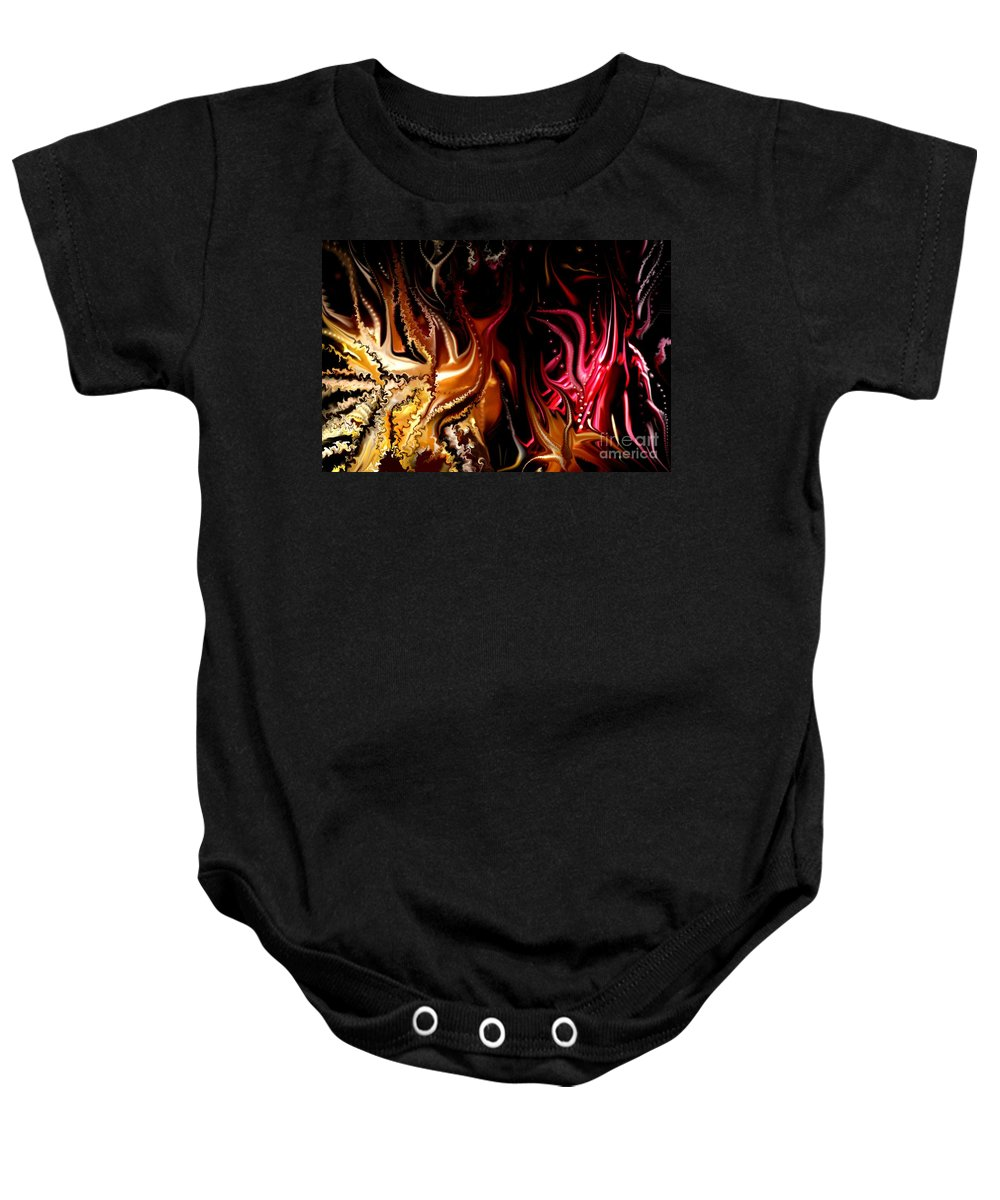 Abstract Baby Onesie featuring the digital art Until The End by David Lane