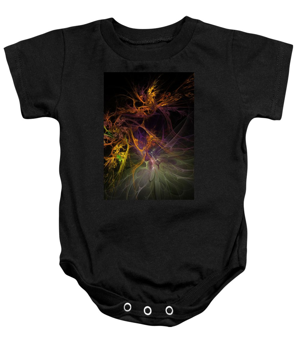 Digital Painting Baby Onesie featuring the digital art Untitled 01-20-10 by David Lane