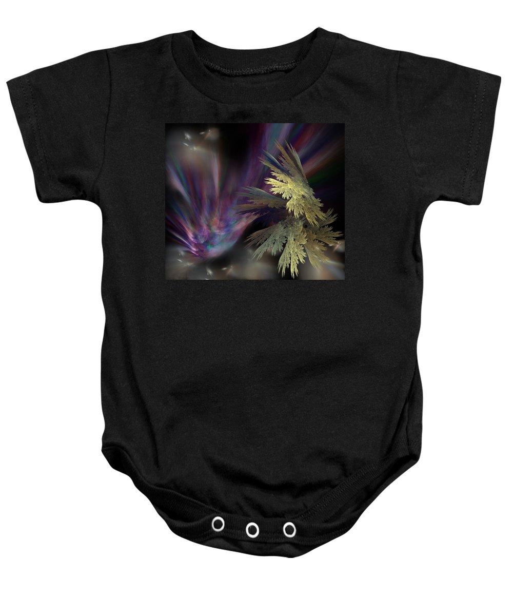 Fantasy Baby Onesie featuring the digital art Untitled 12-05-09 by David Lane