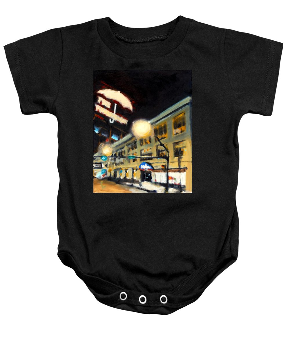 Rob Reeves Baby Onesie featuring the painting Untitled by Robert Reeves