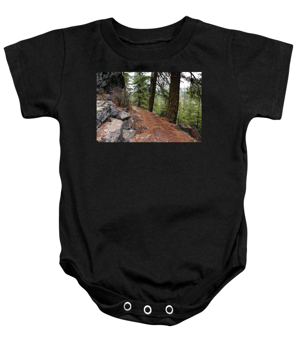 Nature Baby Onesie featuring the photograph Up Around The Bend... by Ben Upham III