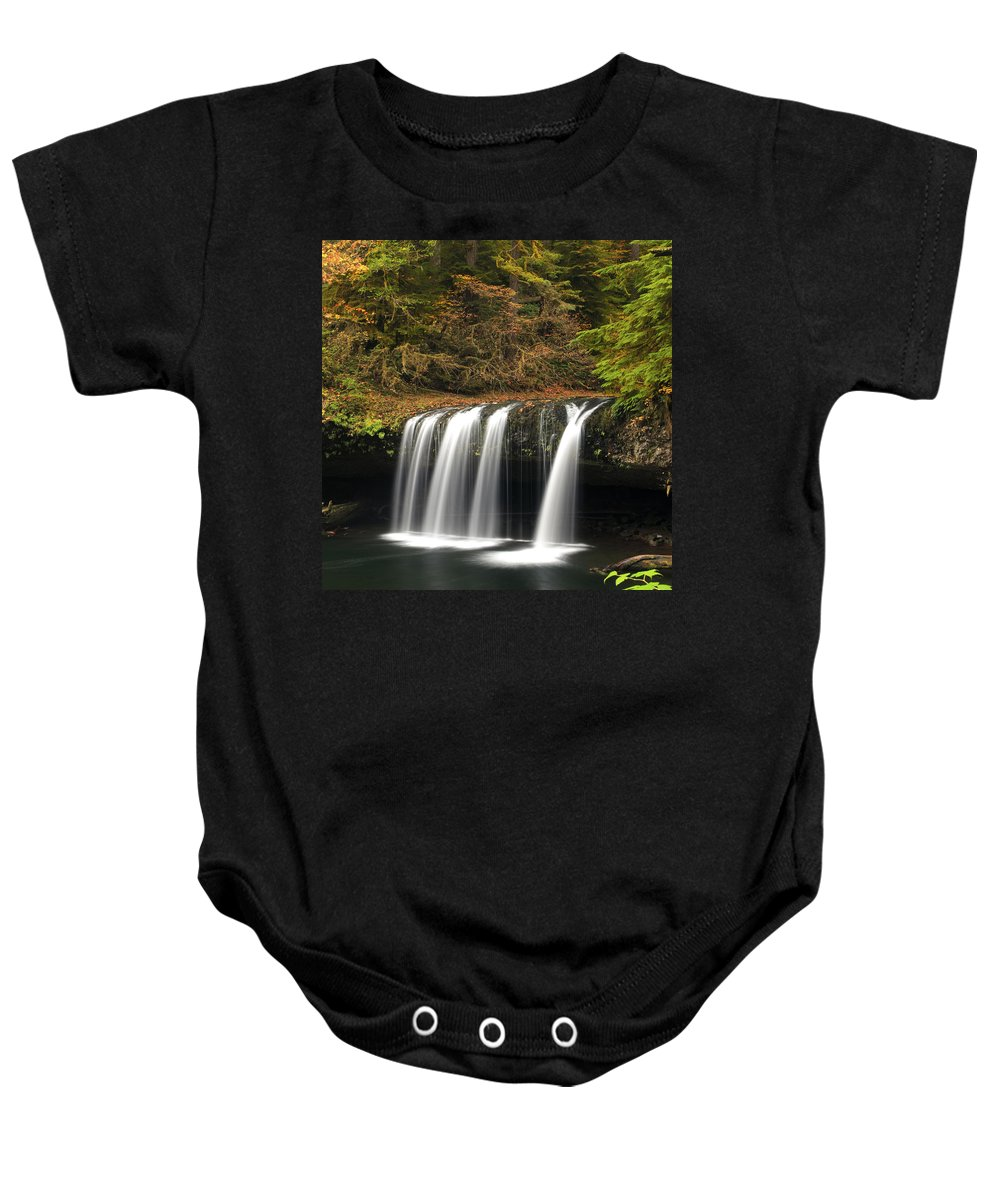 Columbia Gorge Baby Onesie featuring the photograph Upper Butte Creek Falls 2 by Ingrid Smith-Johnsen