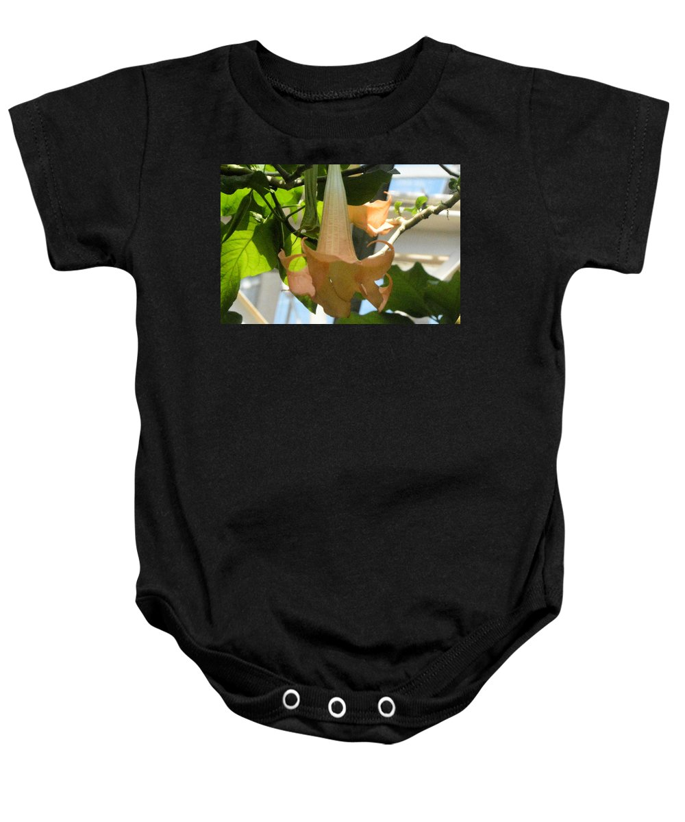 upside Down Baby Onesie featuring the photograph Upside Down Flower by Wendy Fox