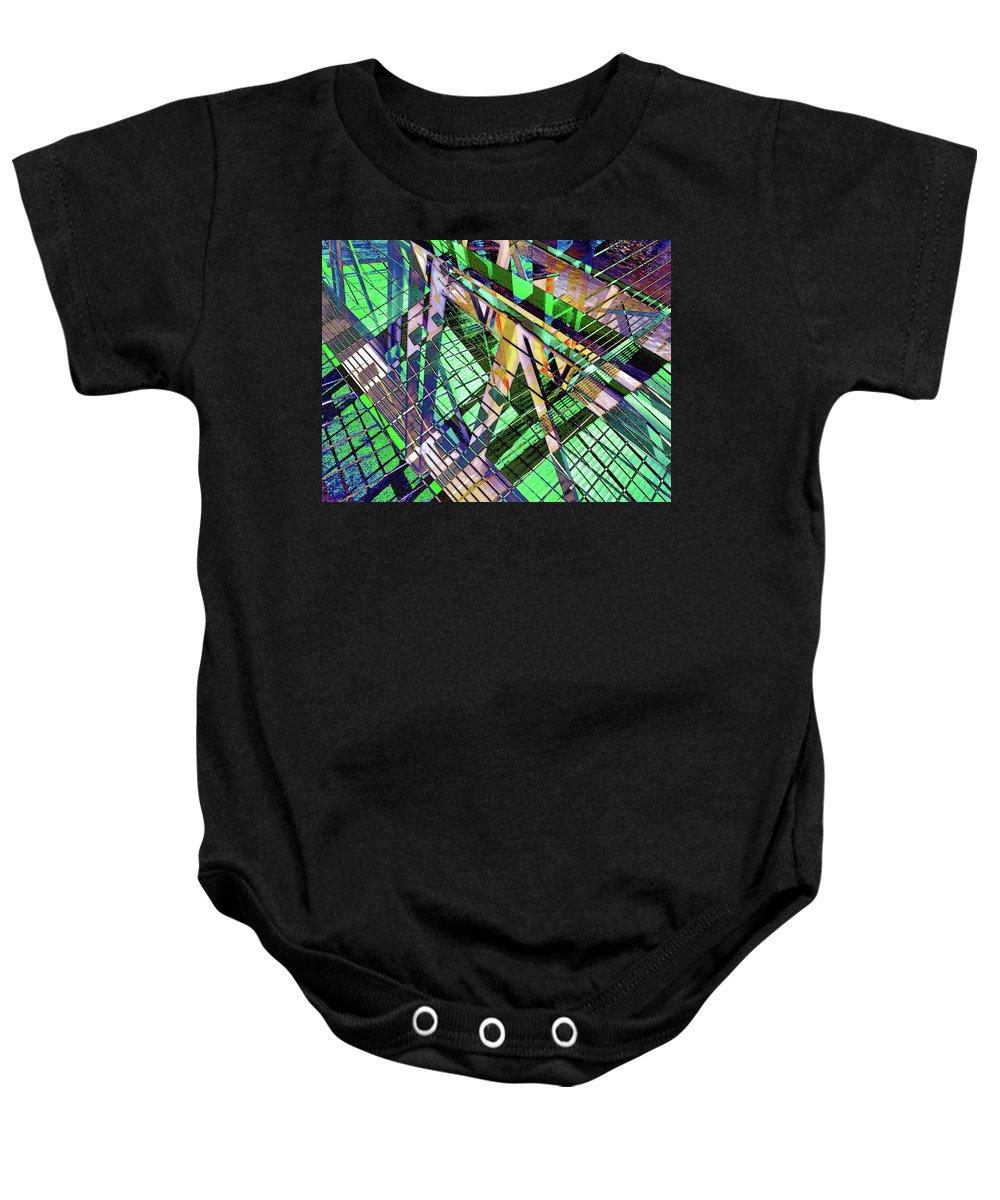 City Baby Onesie featuring the photograph Urban Abstract 500 by Don Zawadiwsky