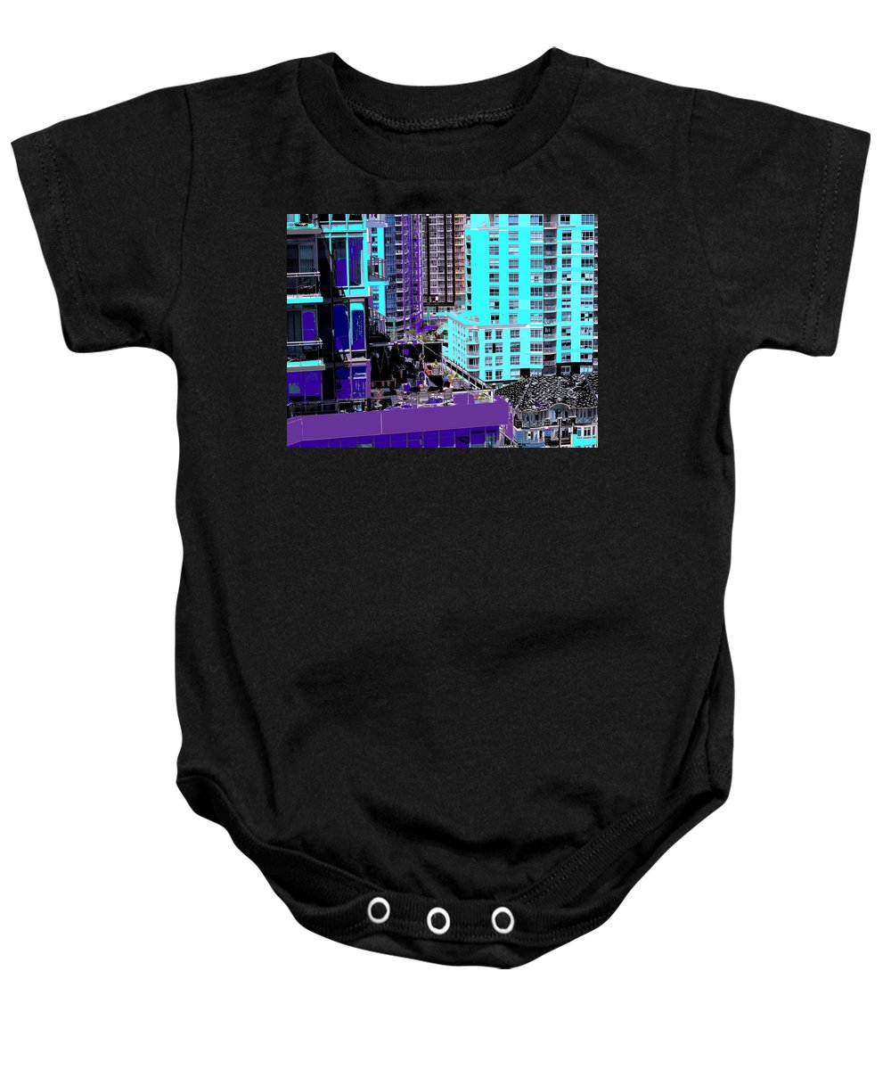 Baby Onesie featuring the photograph Urban Jungle by Ian MacDonald