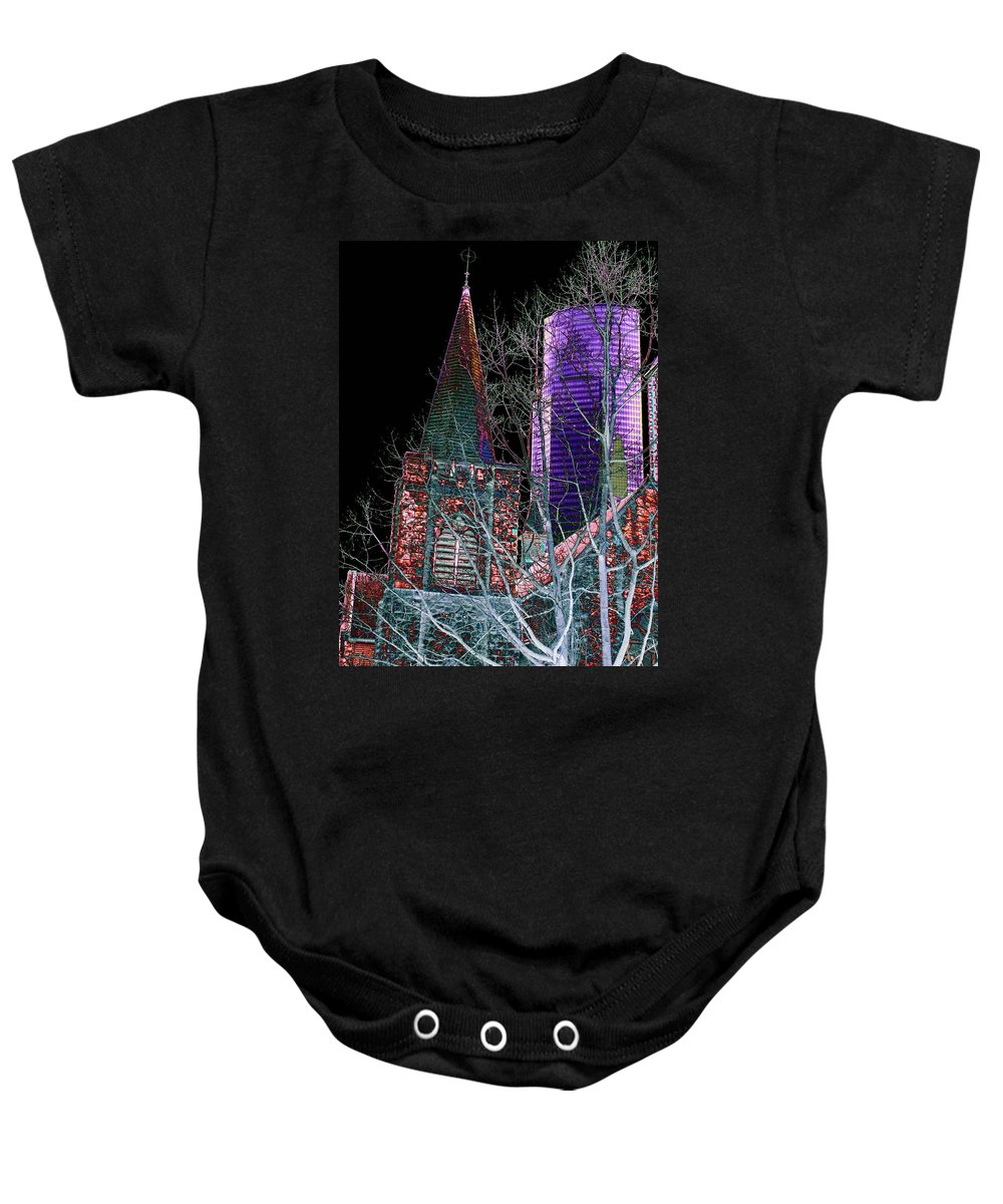Seattle Baby Onesie featuring the photograph Urban Ministry by Tim Allen