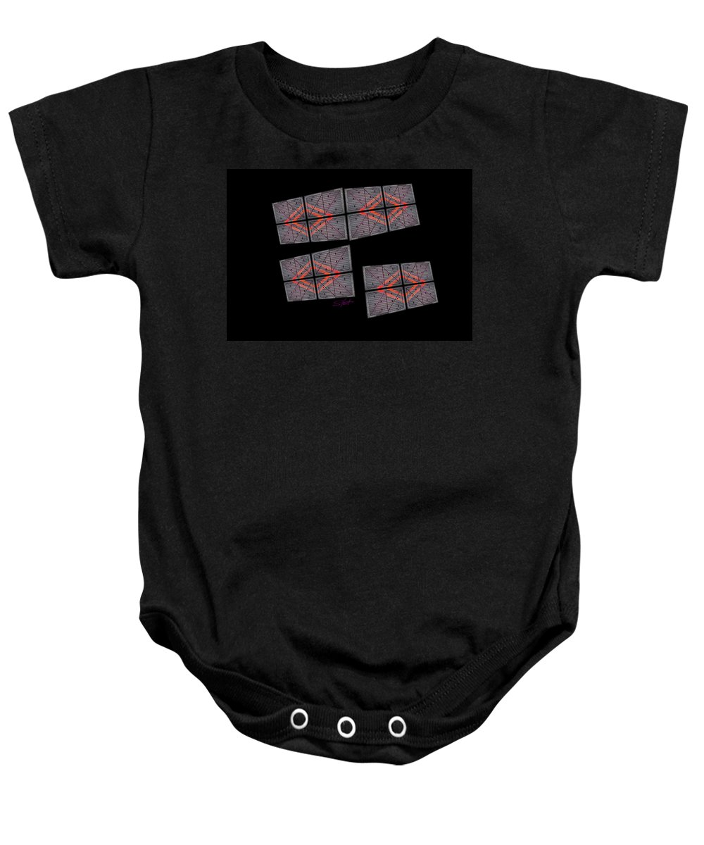 Black Baby Onesie featuring the photograph Urban Space by Charles Stuart