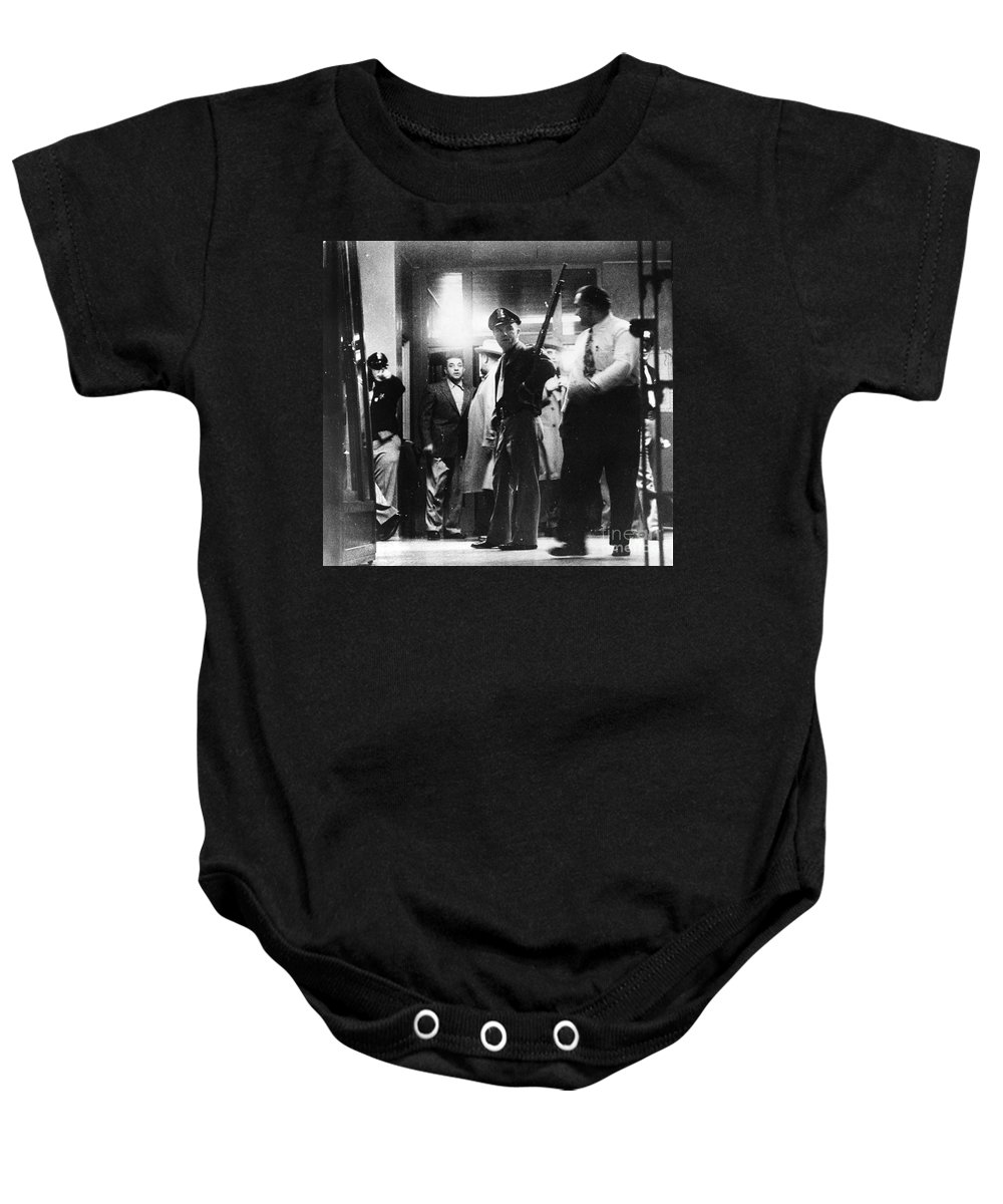 1950s Baby Onesie featuring the photograph Utah State Prison Riot by Granger