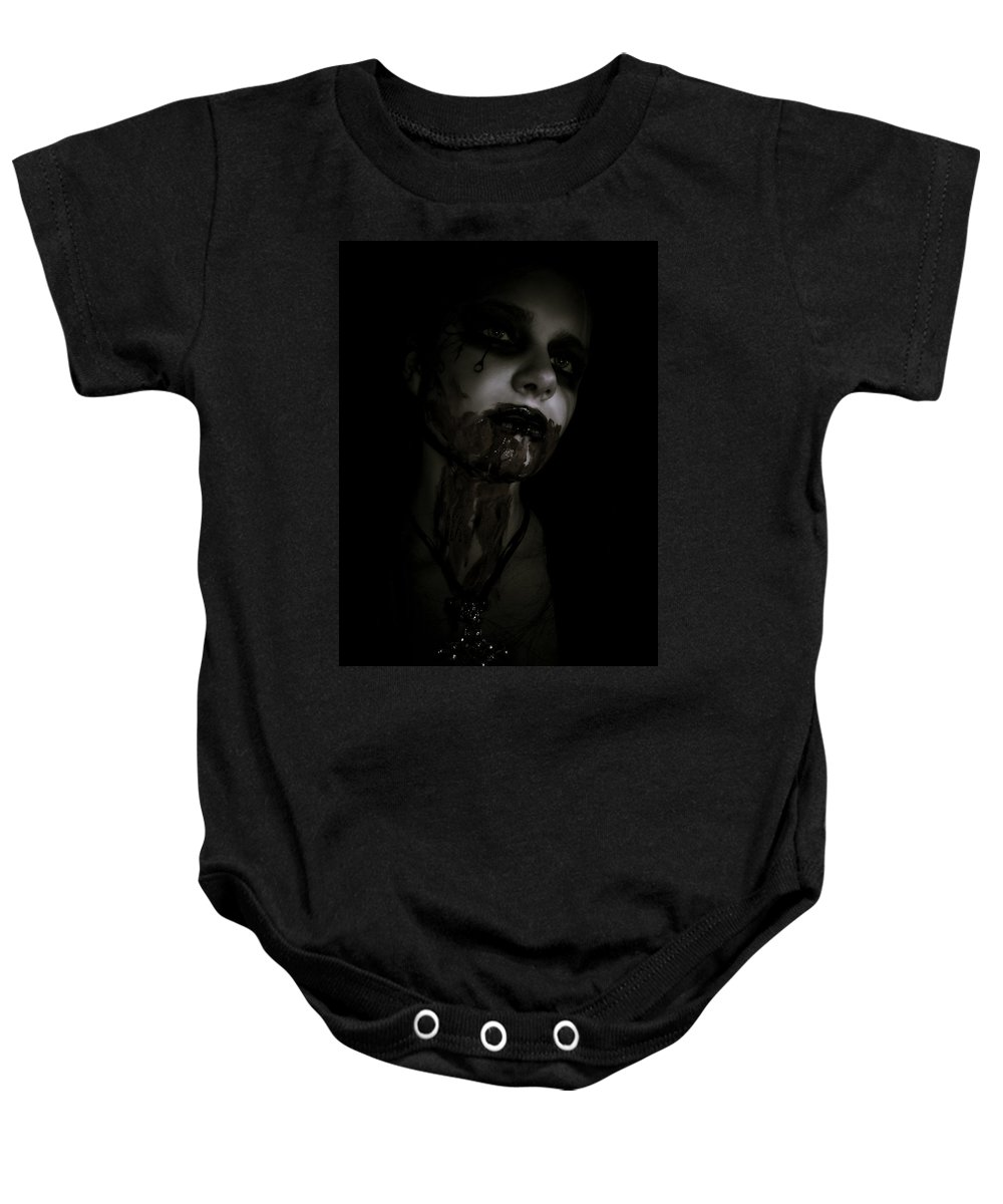 Vampire Baby Onesie featuring the photograph Vampire Feed 2 by Kelly King
