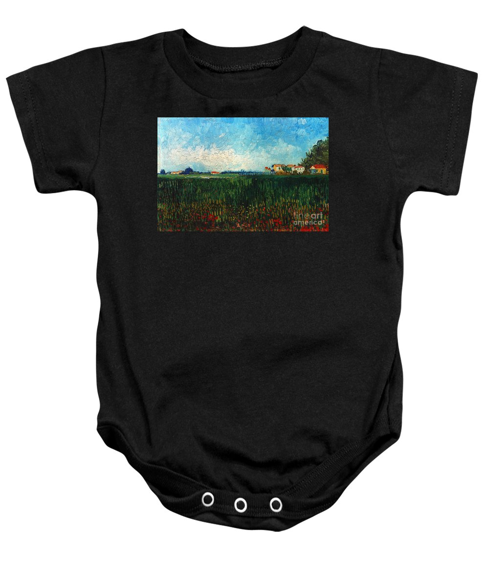 1888 Baby Onesie featuring the photograph Van Gogh: Landscape, 1888 by Granger