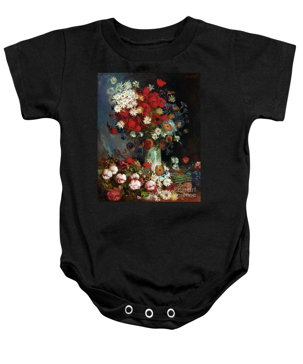 1886 Baby Onesie featuring the photograph Van Gogh Still Life 1886 by Granger
