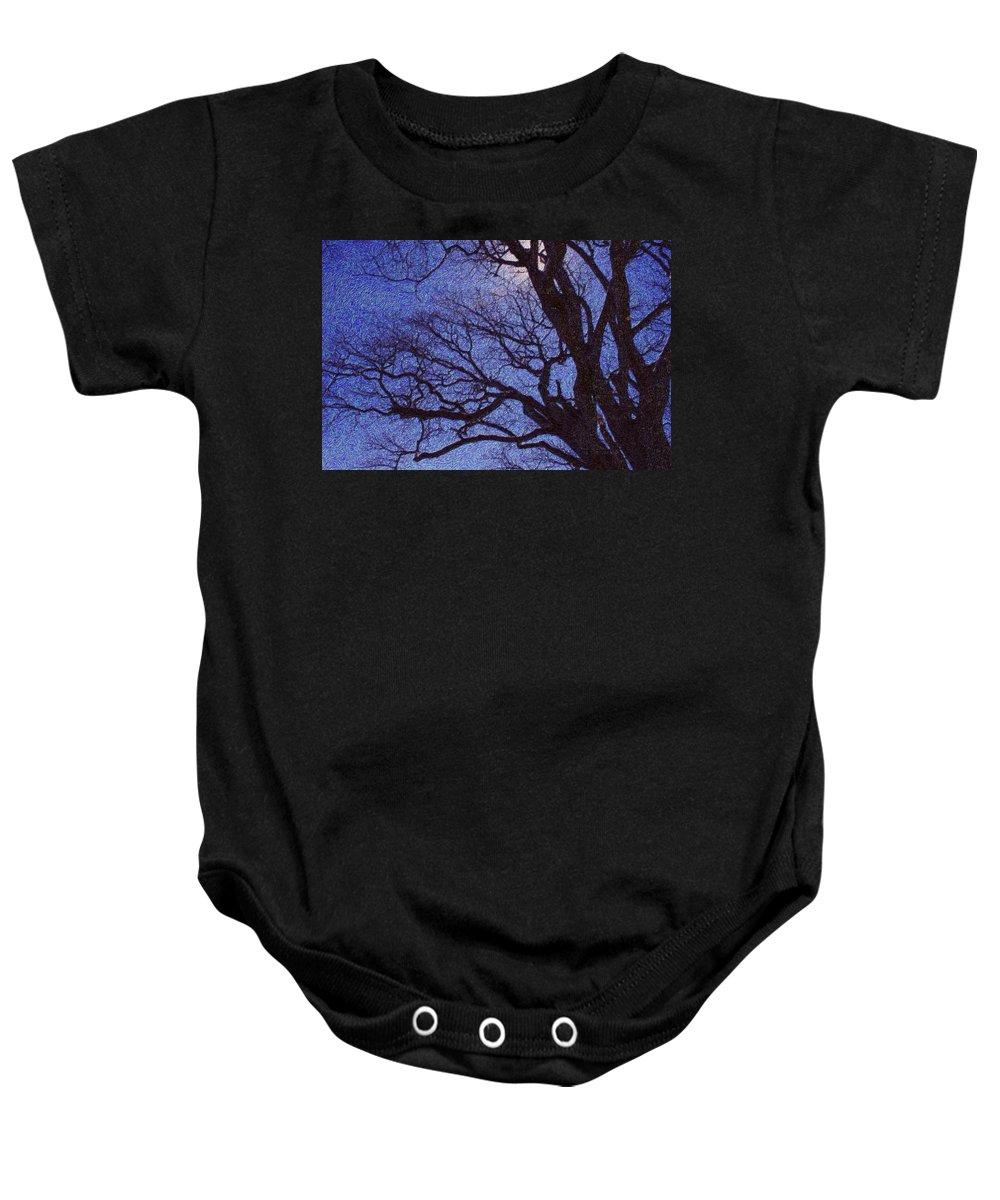 Tree Baby Onesie featuring the digital art Van Gogh Tree by Perri Kelly