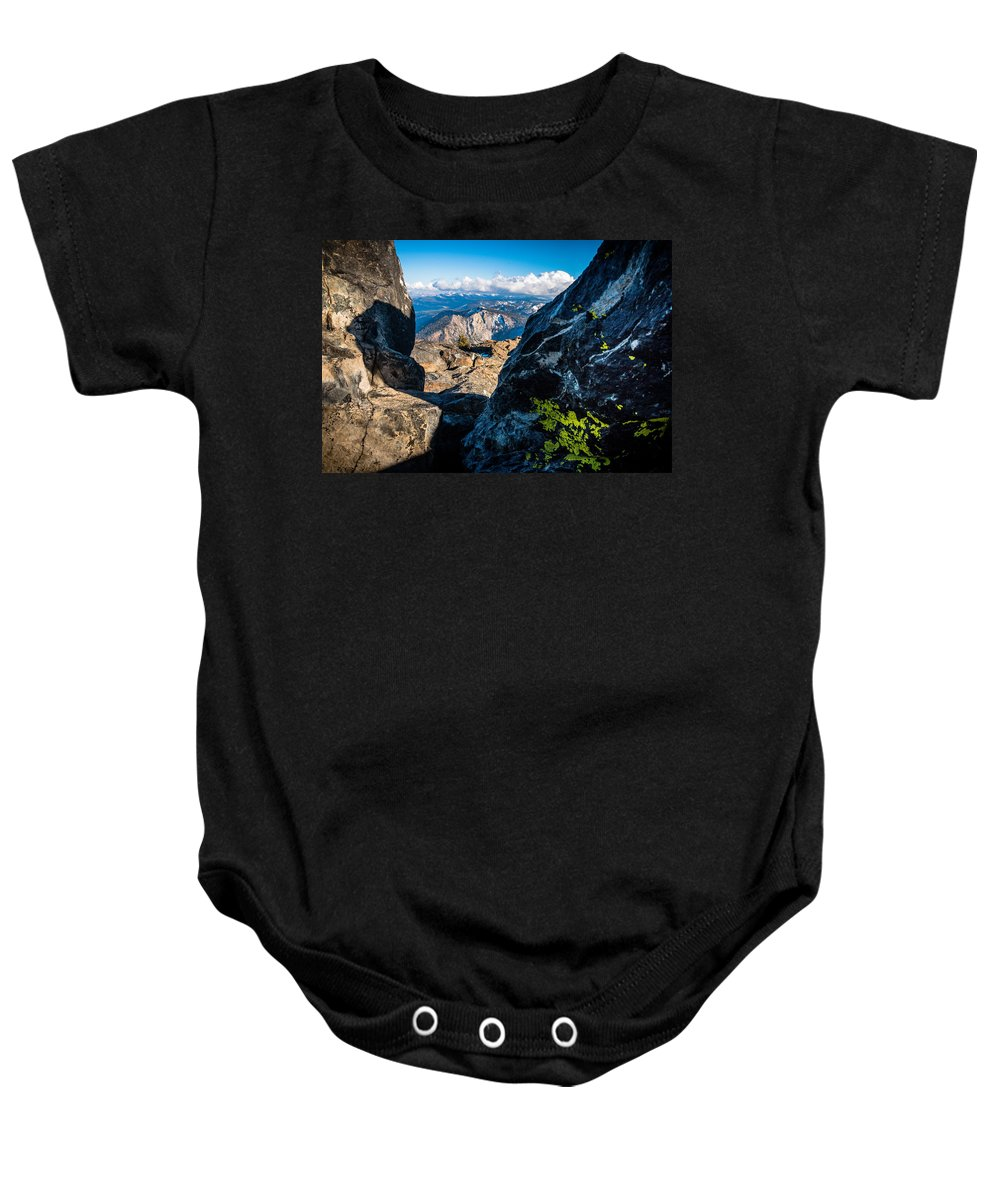Landscape Baby Onesie featuring the photograph Vastly Majestic High Sierras by Mike Herron