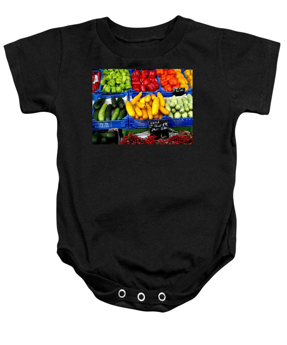 Vegetables Baby Onesie featuring the photograph Vegetables by Ian MacDonald
