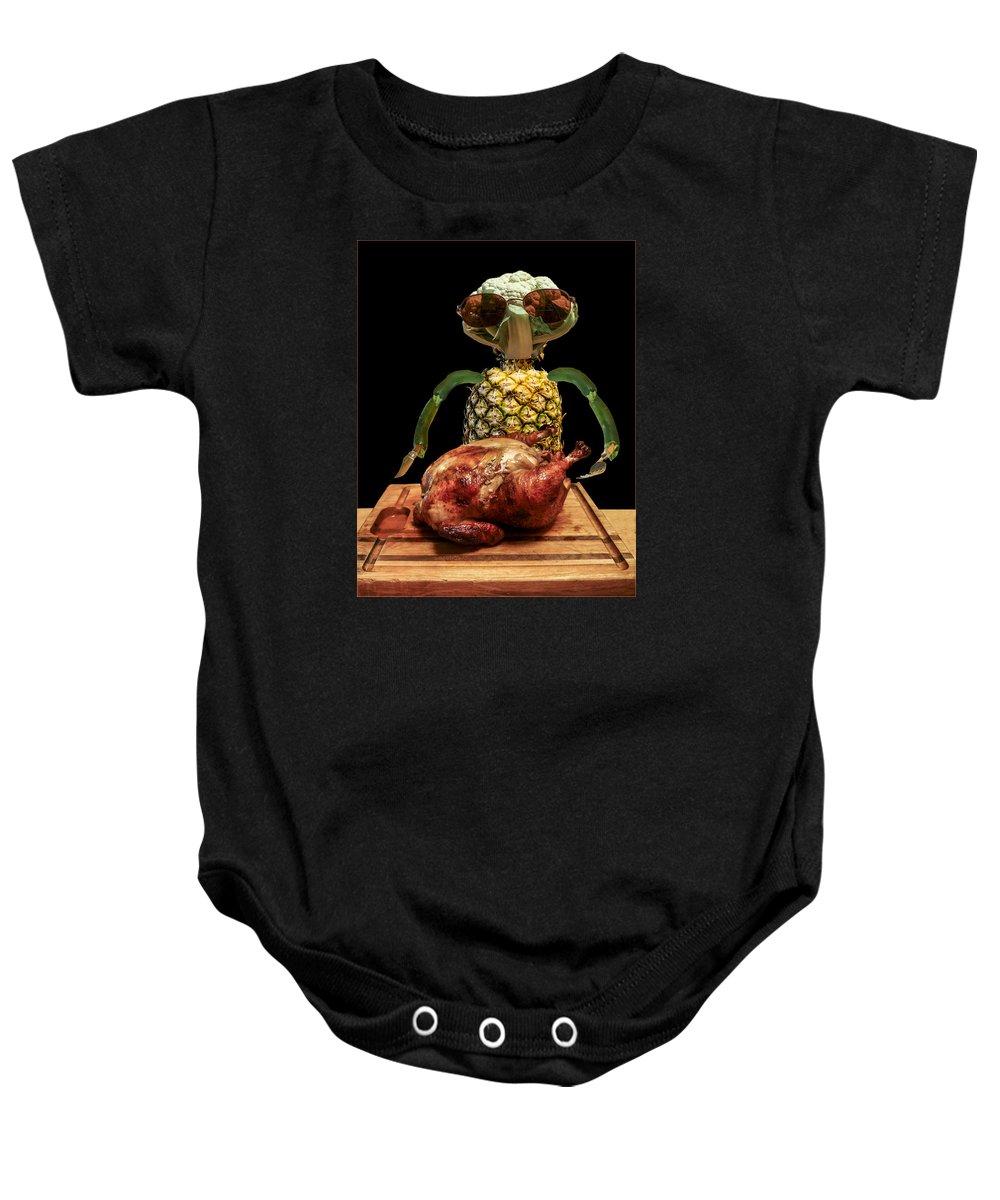 Vegetarian Baby Onesie featuring the photograph Vegetarian Meal by Paul Eggermann