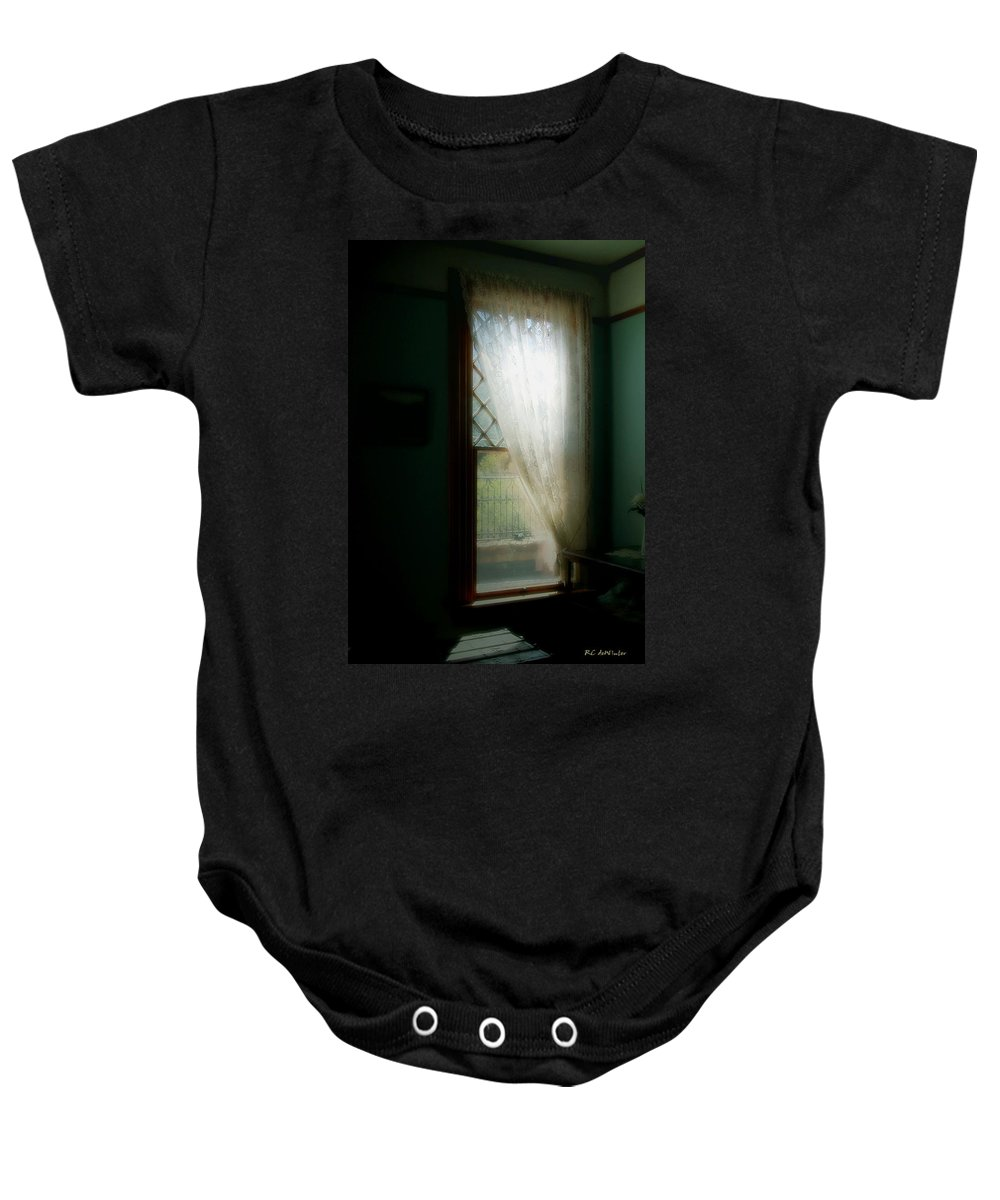 Antiques Baby Onesie featuring the painting Velvet Afternoon by RC DeWinter