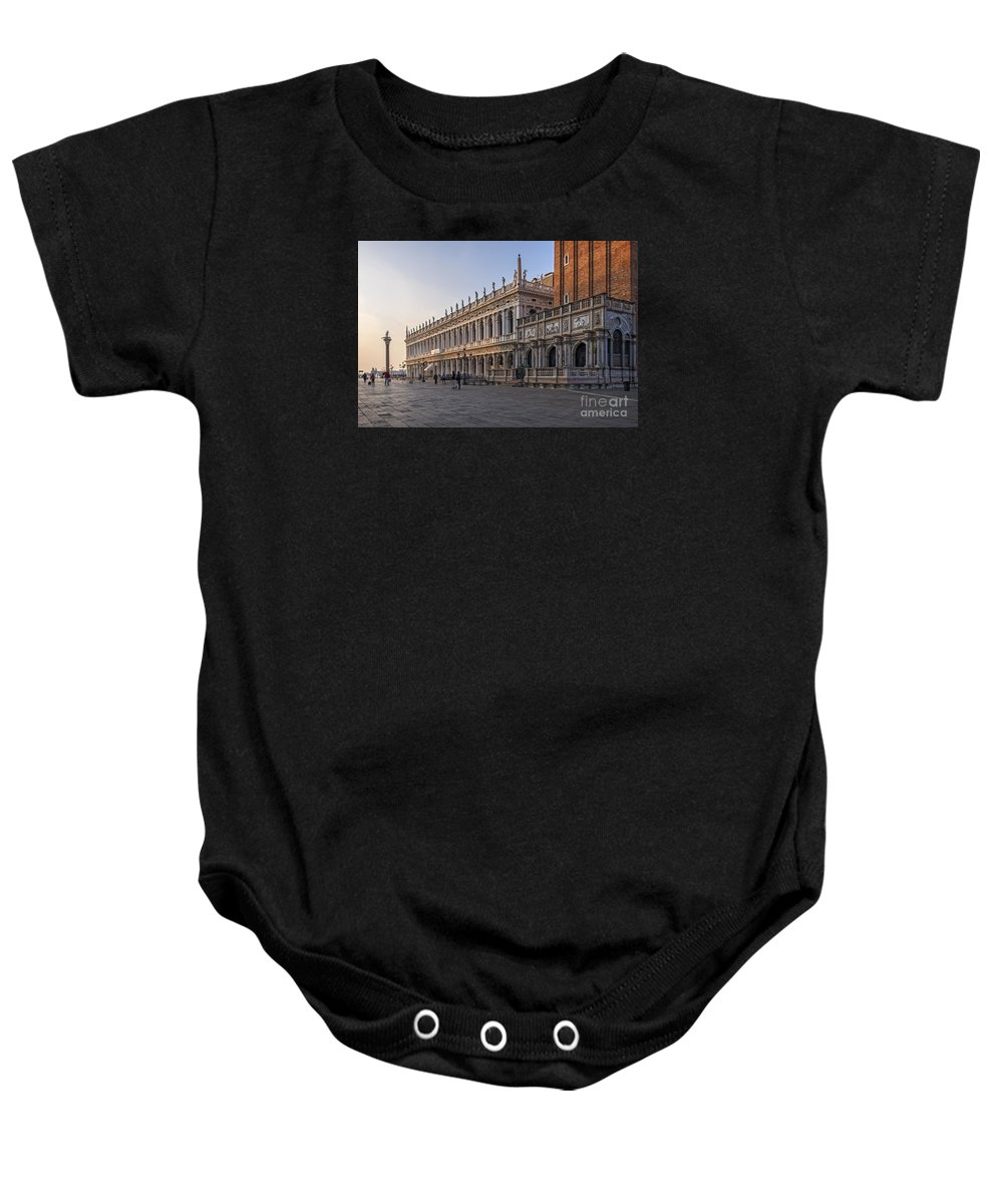 Biblioteca Nazionale Marciana Baby Onesie featuring the photograph Venice - Marciana Library by Eden Breitz