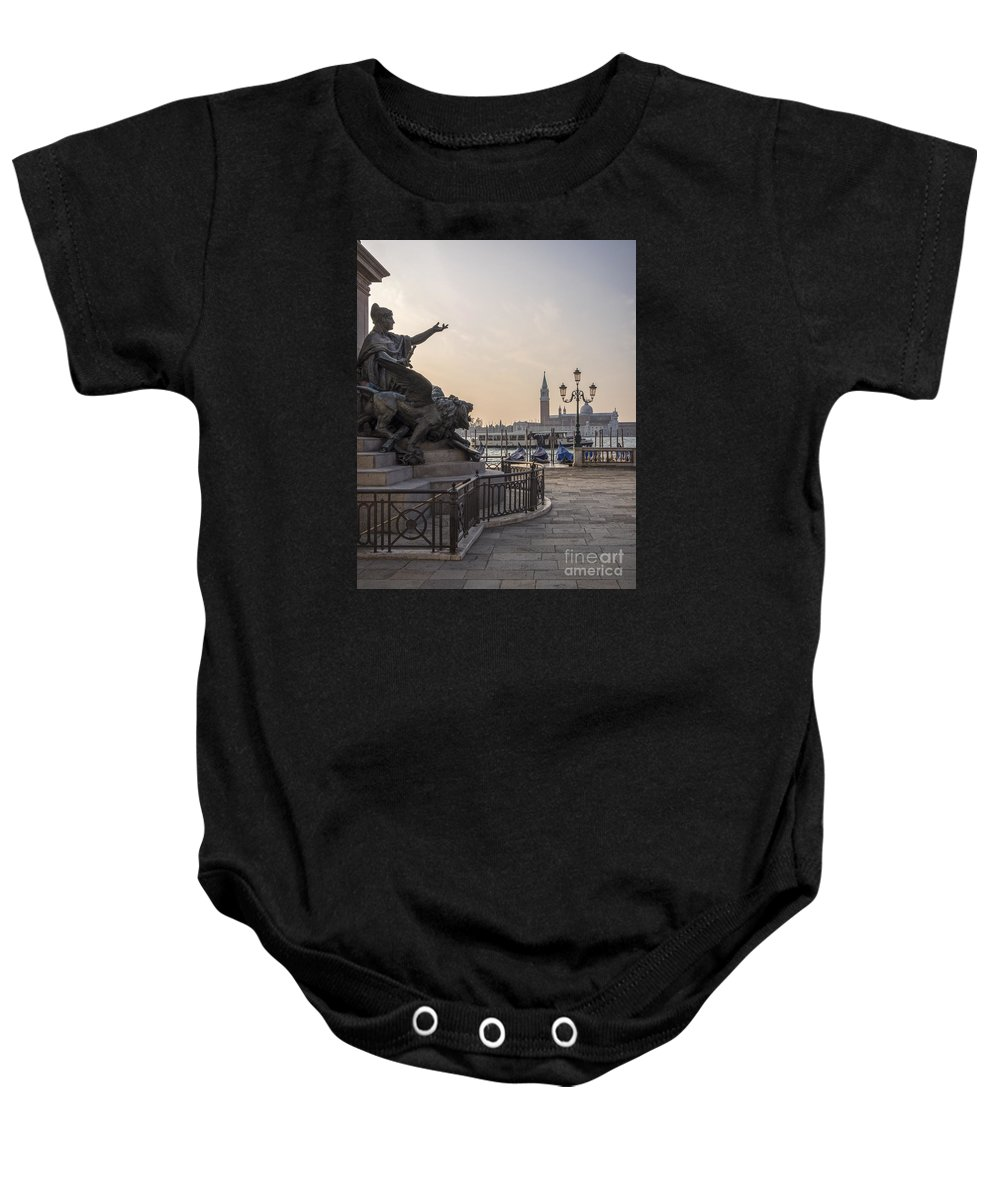 Architectural Baby Onesie featuring the photograph Venice - Monumento Nazionale A Vittorio Emanuele by Eden Breitz