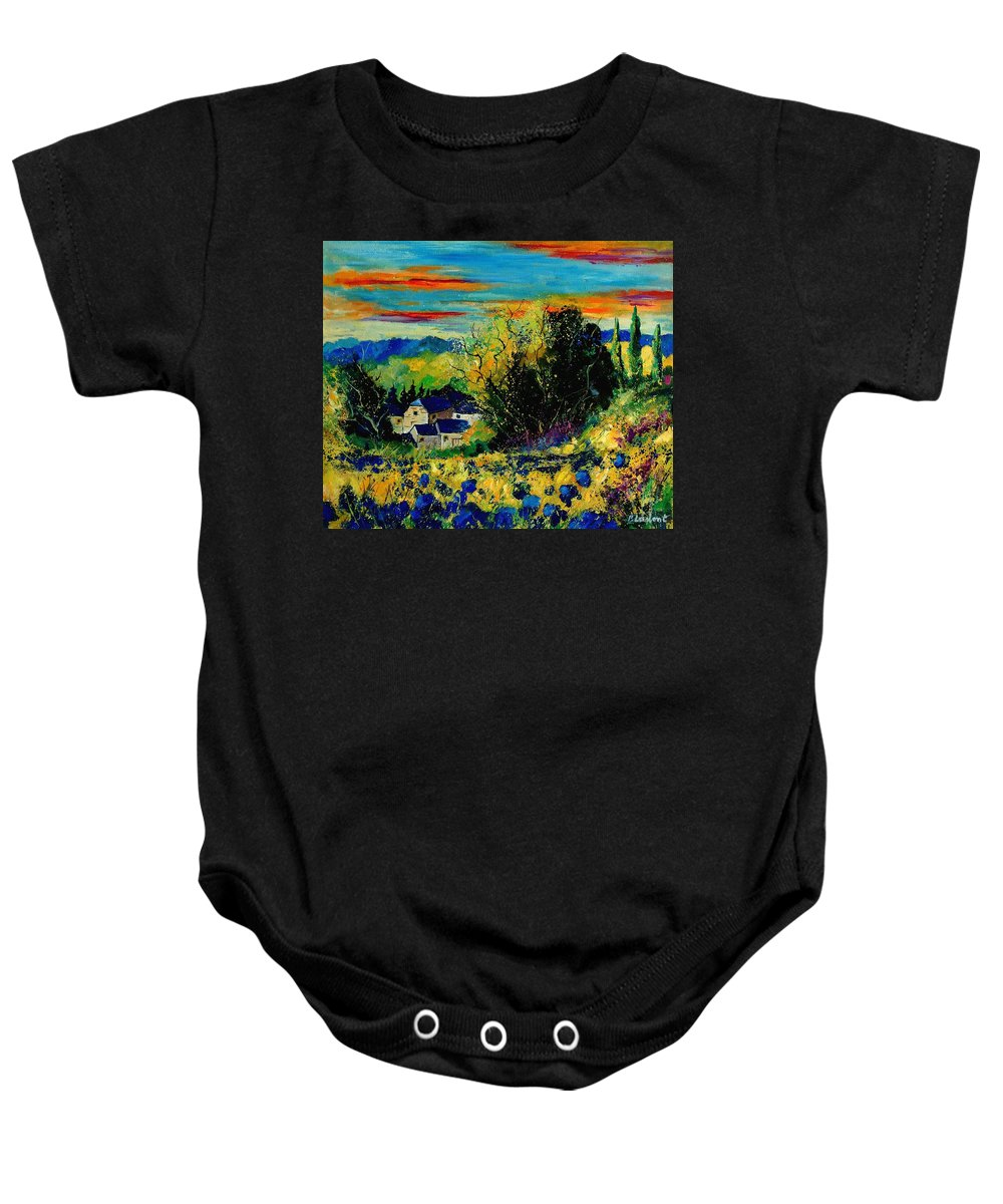 Tree Baby Onesie featuring the painting ver by Pol Ledent