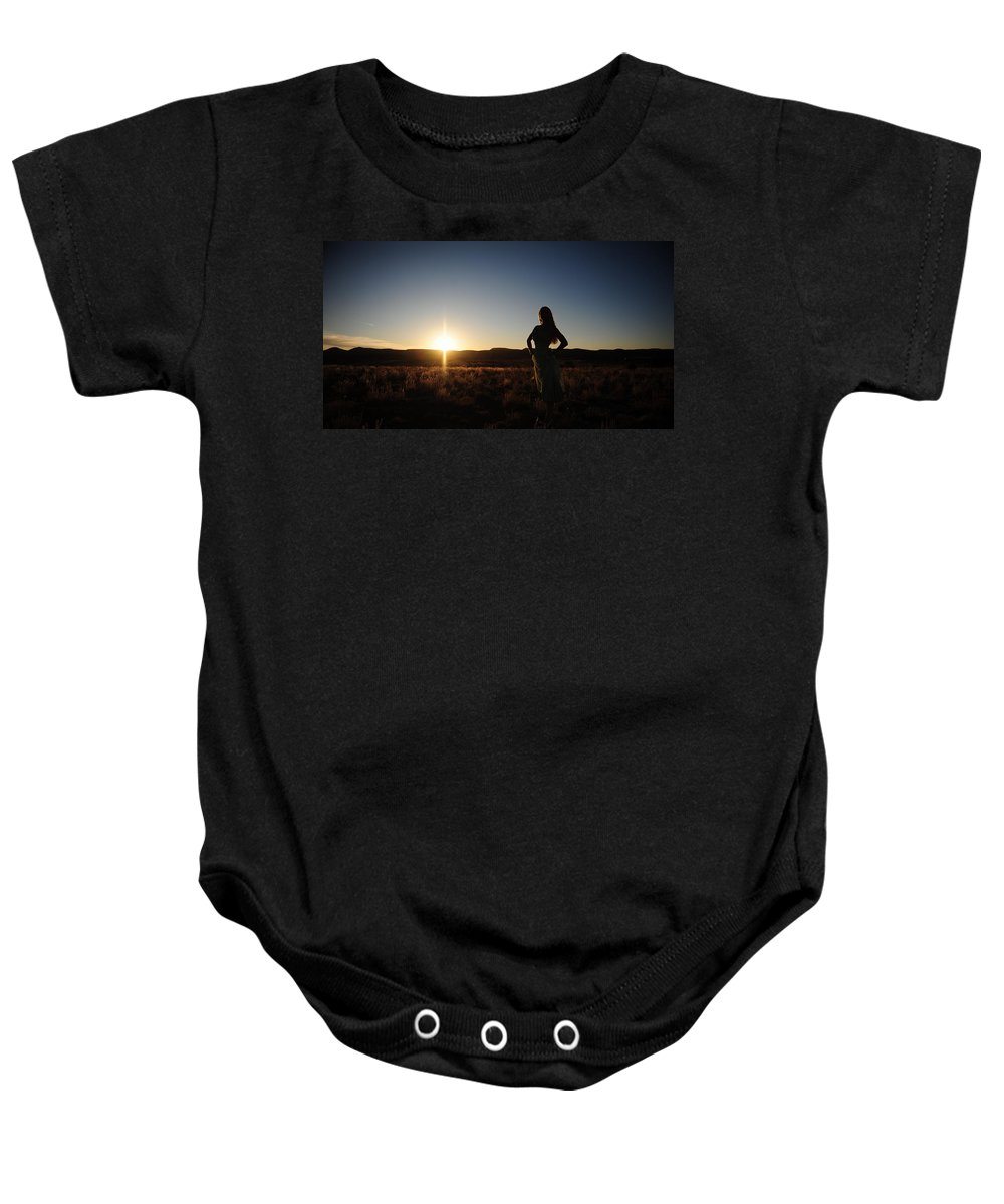 Woman Baby Onesie featuring the photograph Vertical Shapes by Scott Sawyer