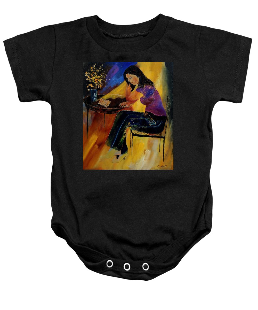 Figurative Baby Onesie featuring the painting Very Bad News by Pol Ledent