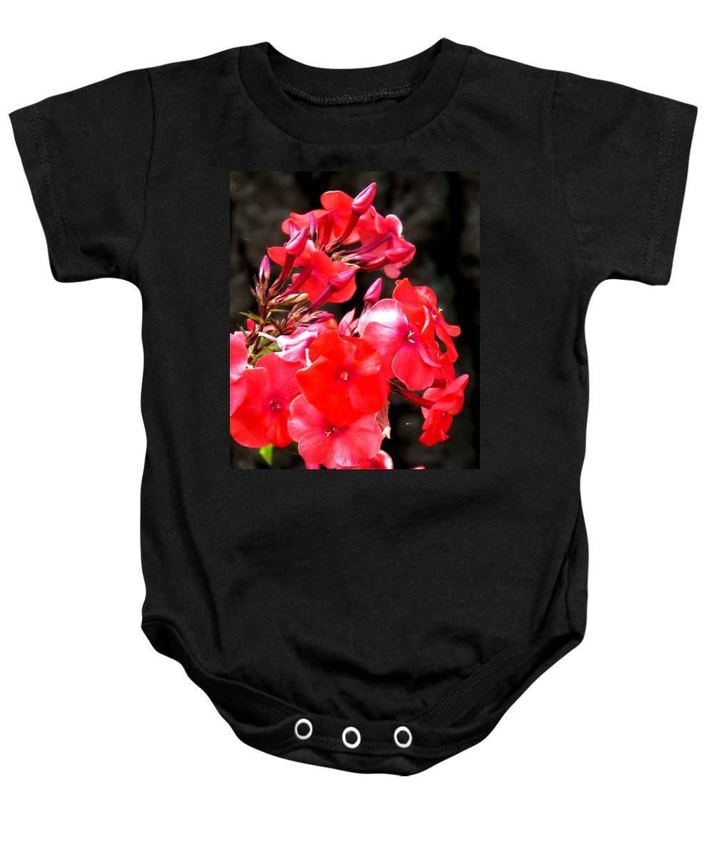 Red Baby Onesie featuring the photograph Vibrant by Ian MacDonald