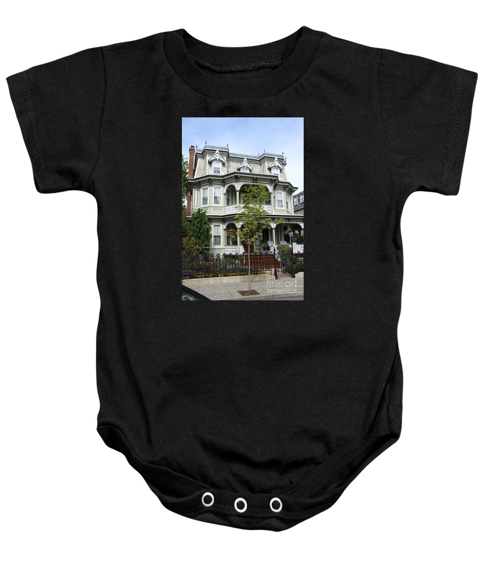Victorian House Baby Onesie featuring the photograph Victorian House by Christiane Schulze Art And Photography