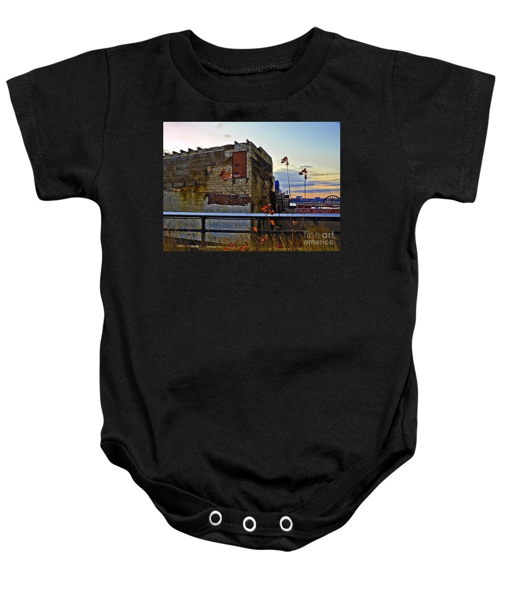 High Line Baby Onesie featuring the photograph View From The High Line by Madeline Ellis