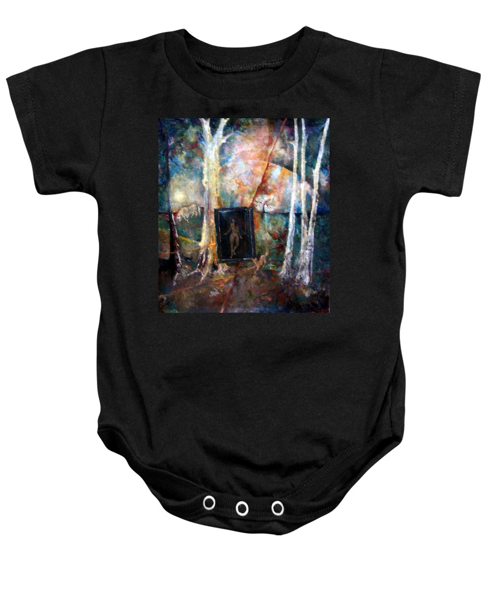 Colour Baby Onesie featuring the painting View From Window by Wojtek Kowalski