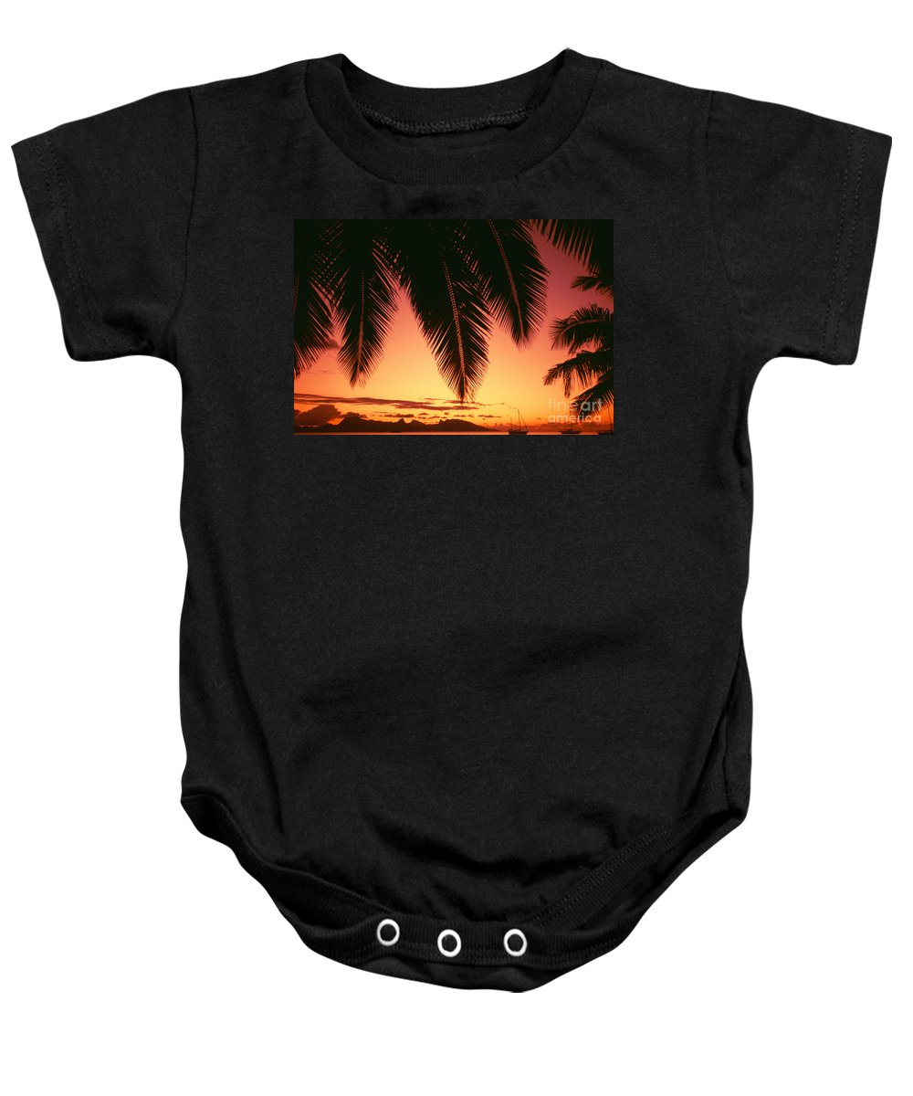 Beautiful Baby Onesie featuring the photograph View Of Tahiti by Dana Edmunds - Printscapes