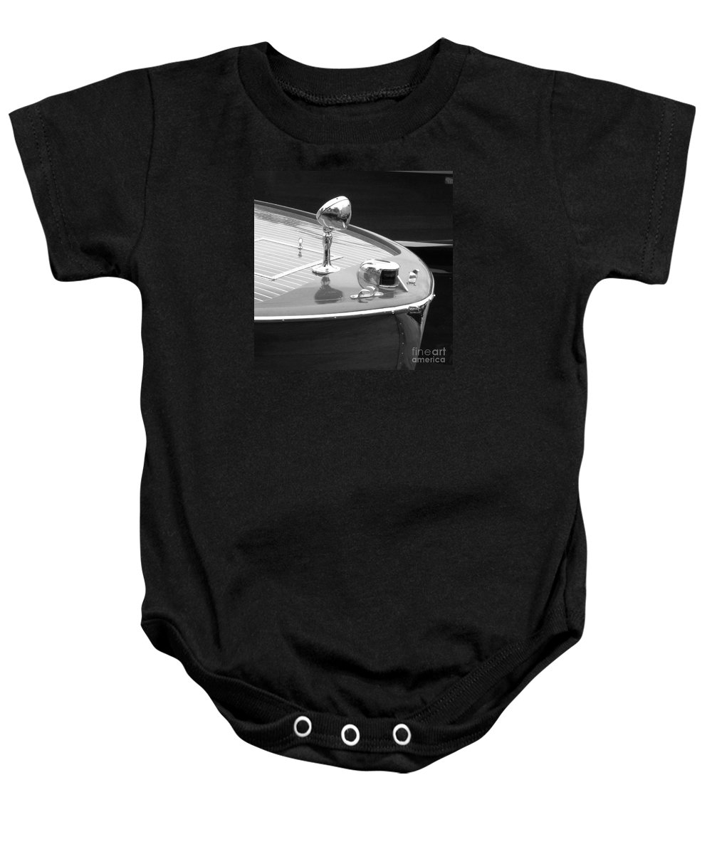 Chris Craft Baby Onesie featuring the photograph C.c. Utility by Neil Zimmerman