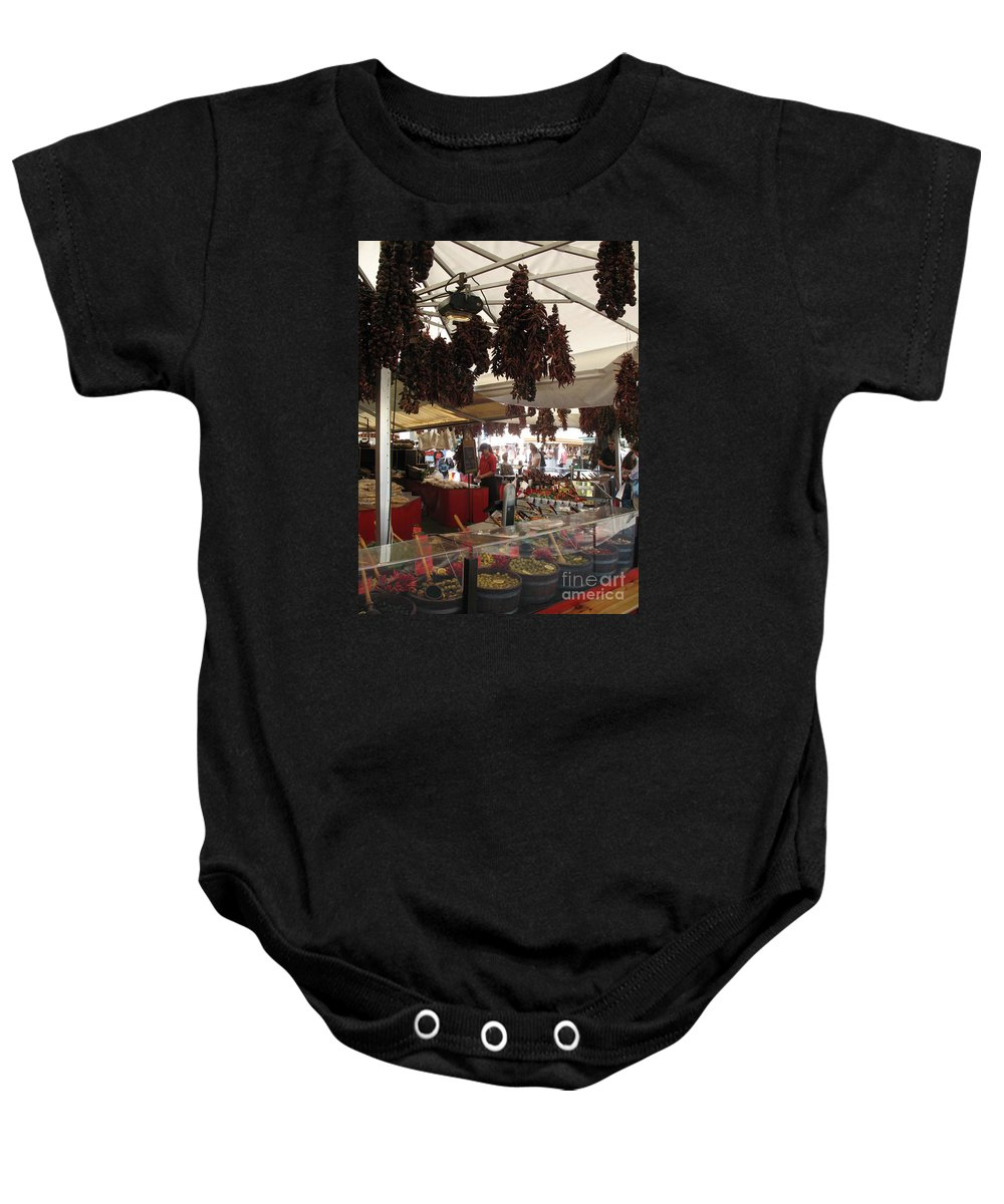 Market Baby Onesie featuring the photograph Viktualienmarkt - Munich by Christiane Schulze Art And Photography