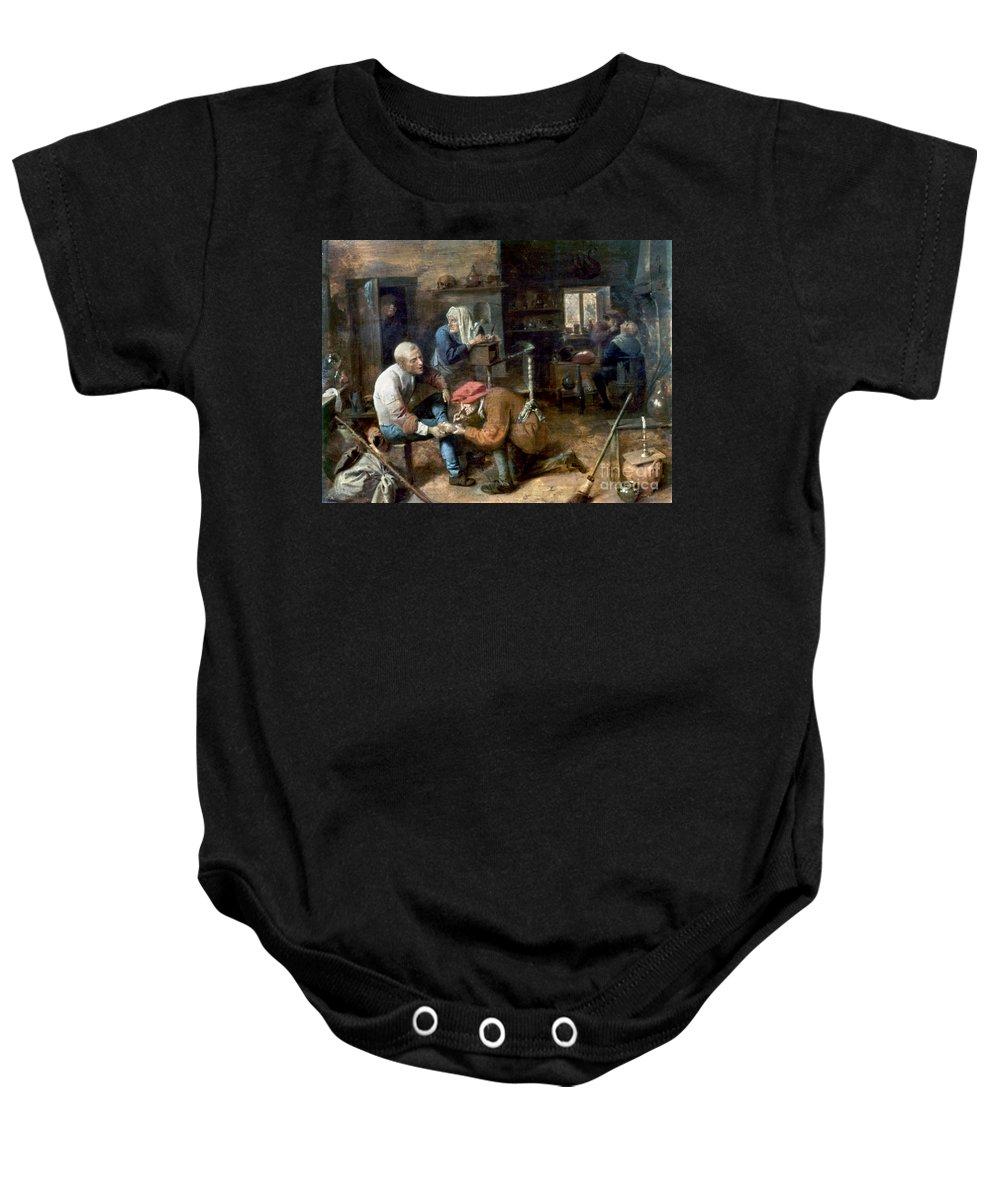 Adrian Baby Onesie featuring the photograph Village Barber-surgeon by Granger