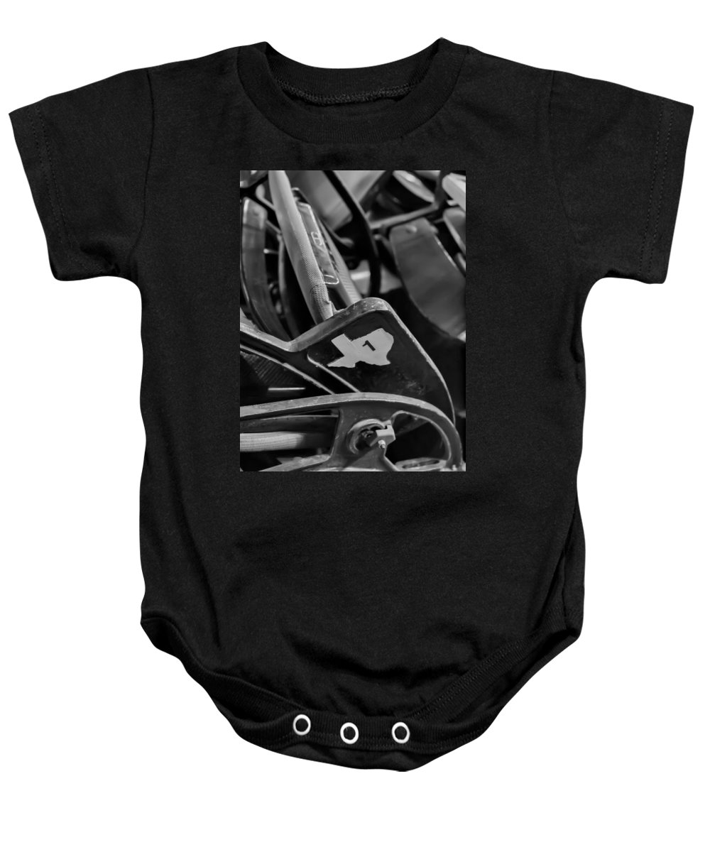 Baseball Baby Onesie featuring the photograph Vintage Baseball Chairs by Joshua House