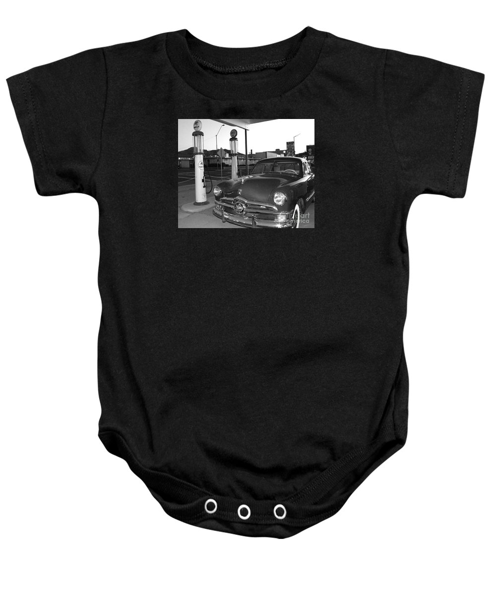 Vintage Car Baby Onesie featuring the photograph Vintage Ford by Rebecca Margraf