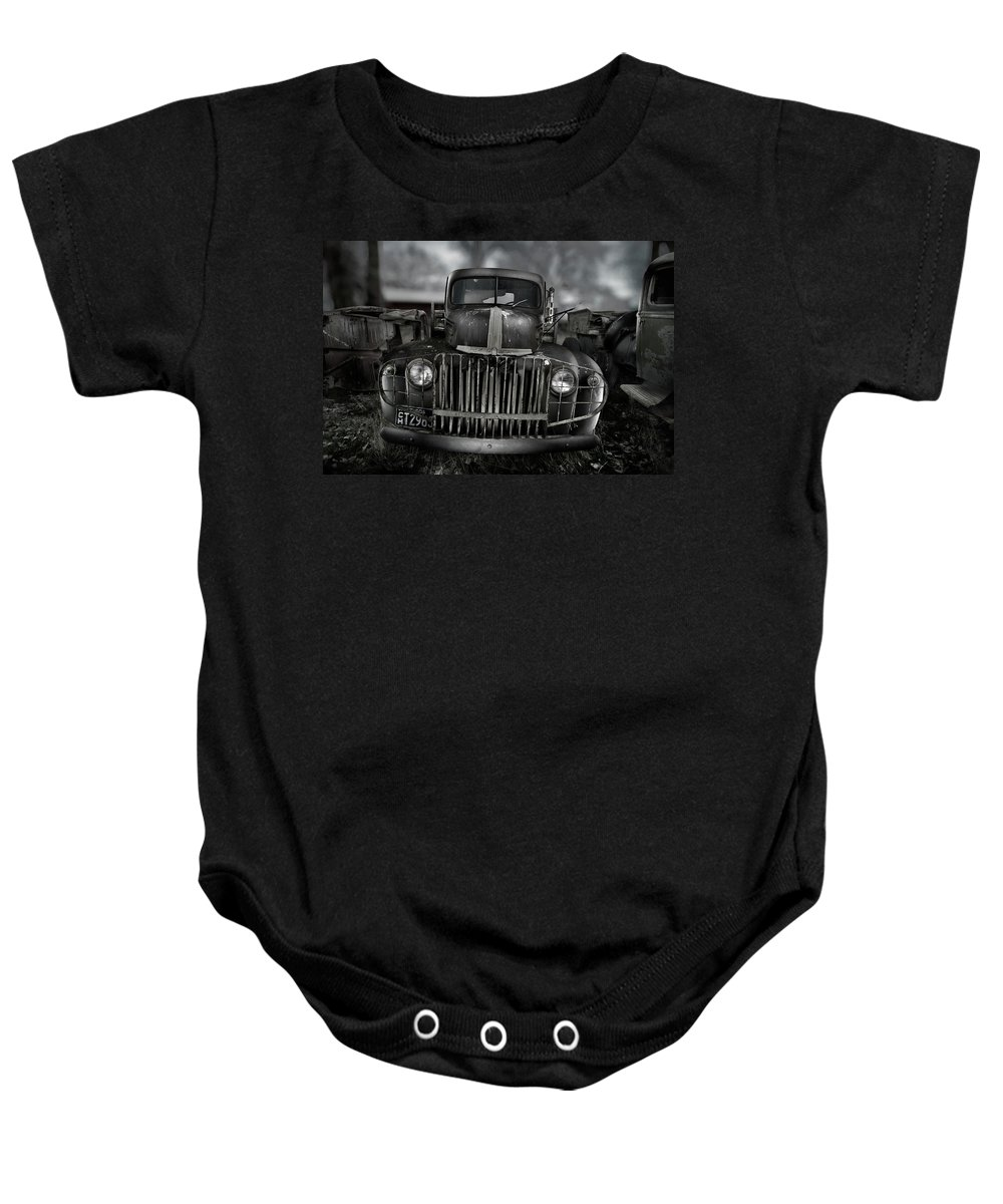 Classic Baby Onesie featuring the photograph Vintage Ford Truck by Yo Pedro
