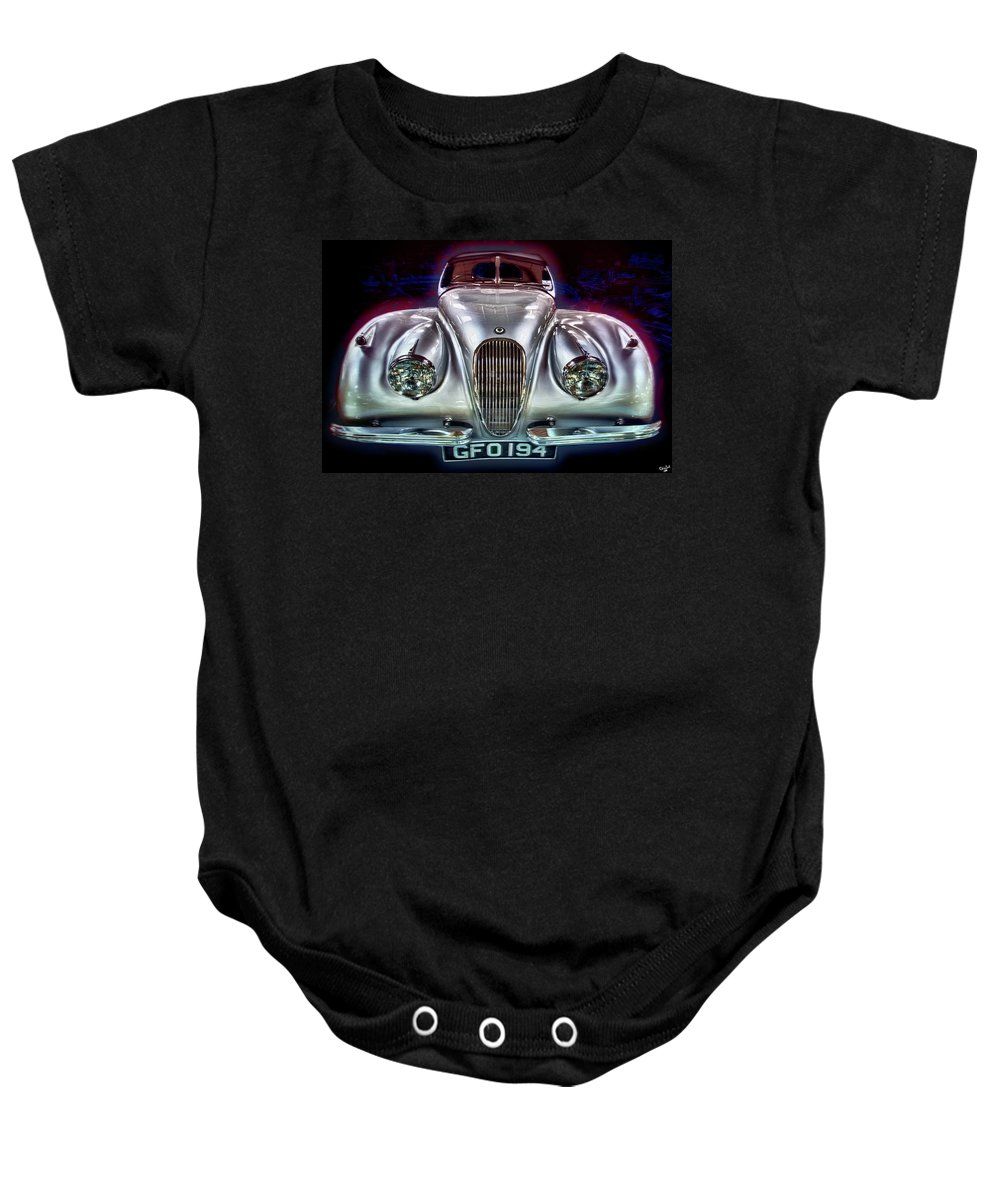 Auto Baby Onesie featuring the photograph Vintage Speedster by Chris Lord