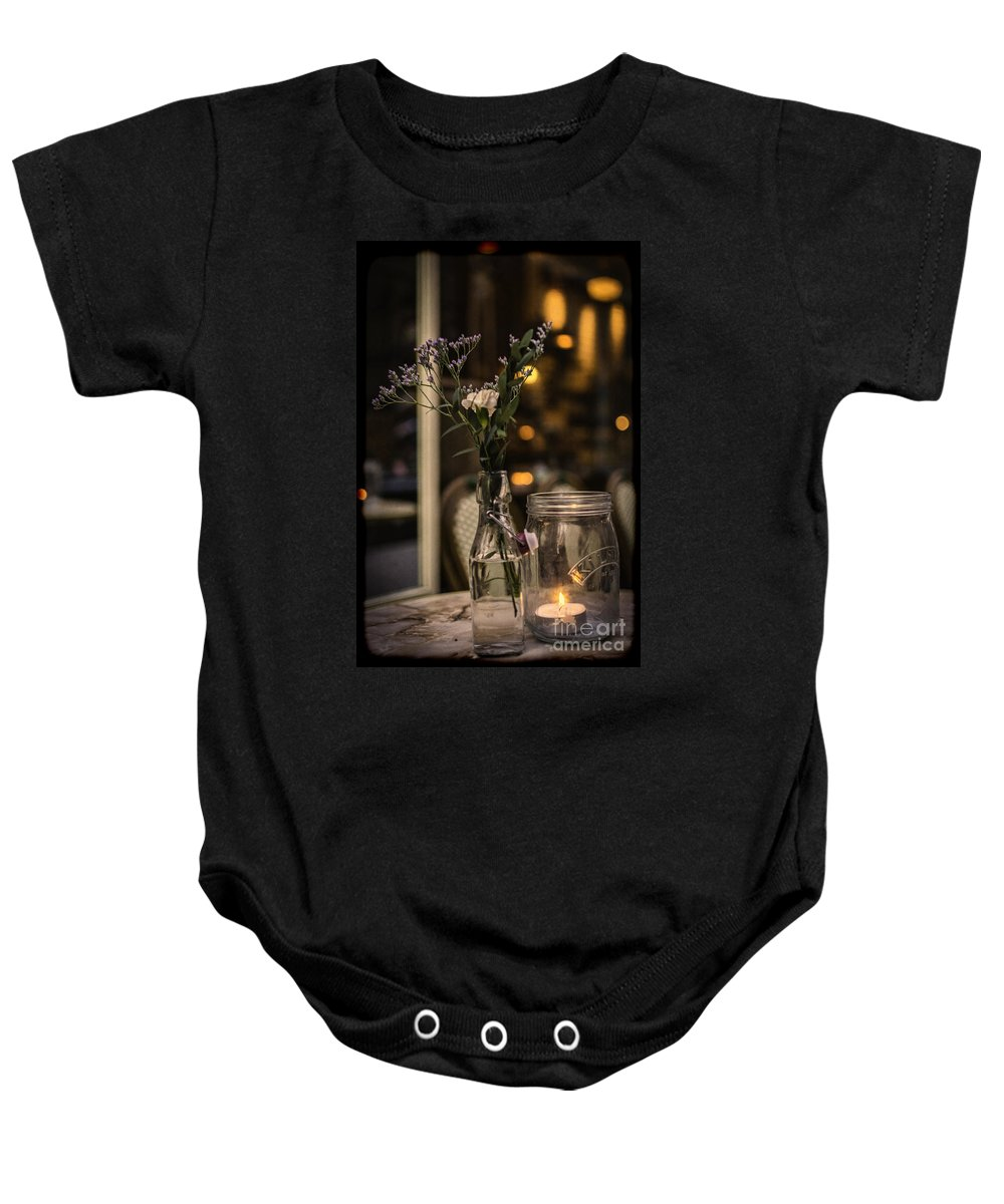 Coffee Shop Baby Onesie featuring the photograph Vintage Tea Shop 2 by Steve Purnell