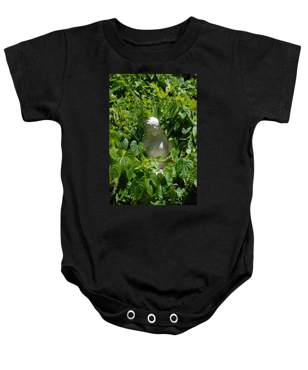 Miami Monastery Baby Onesie featuring the photograph Virgin Mary by Rob Hans
