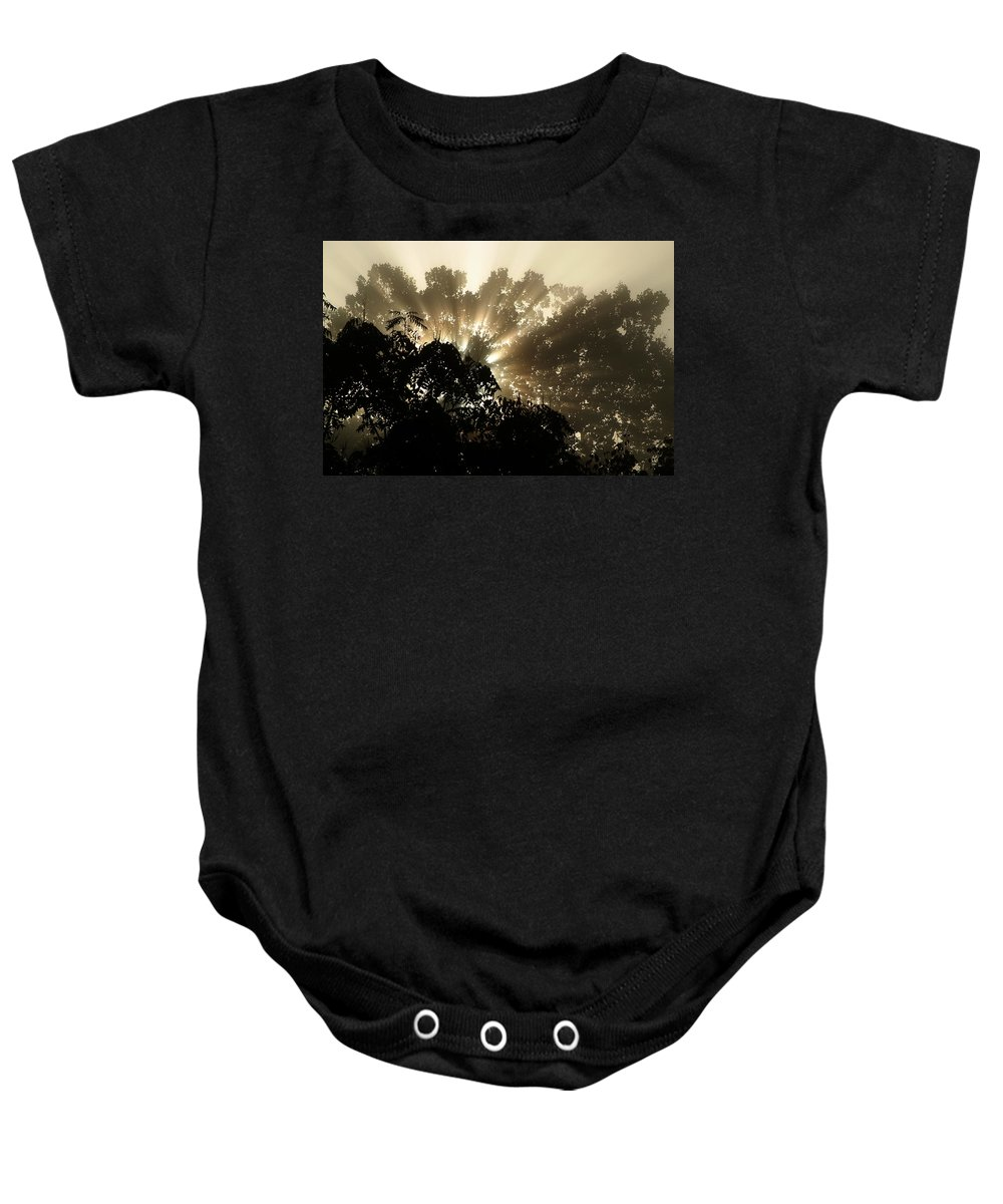 Sunrise Baby Onesie featuring the photograph Virginia Sunrise by Michael McGowan