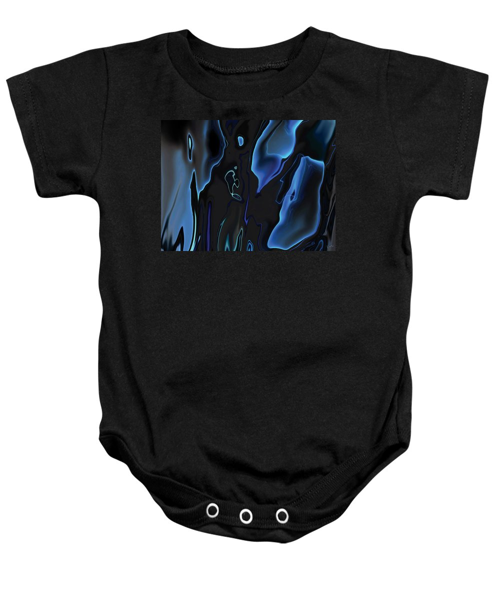 Abstract Baby Onesie featuring the digital art Virtual Life 1 by Rabi Khan