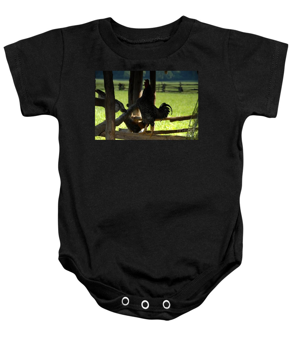 Farm Baby Onesie featuring the photograph Voice Of The Farm by David Lee Thompson