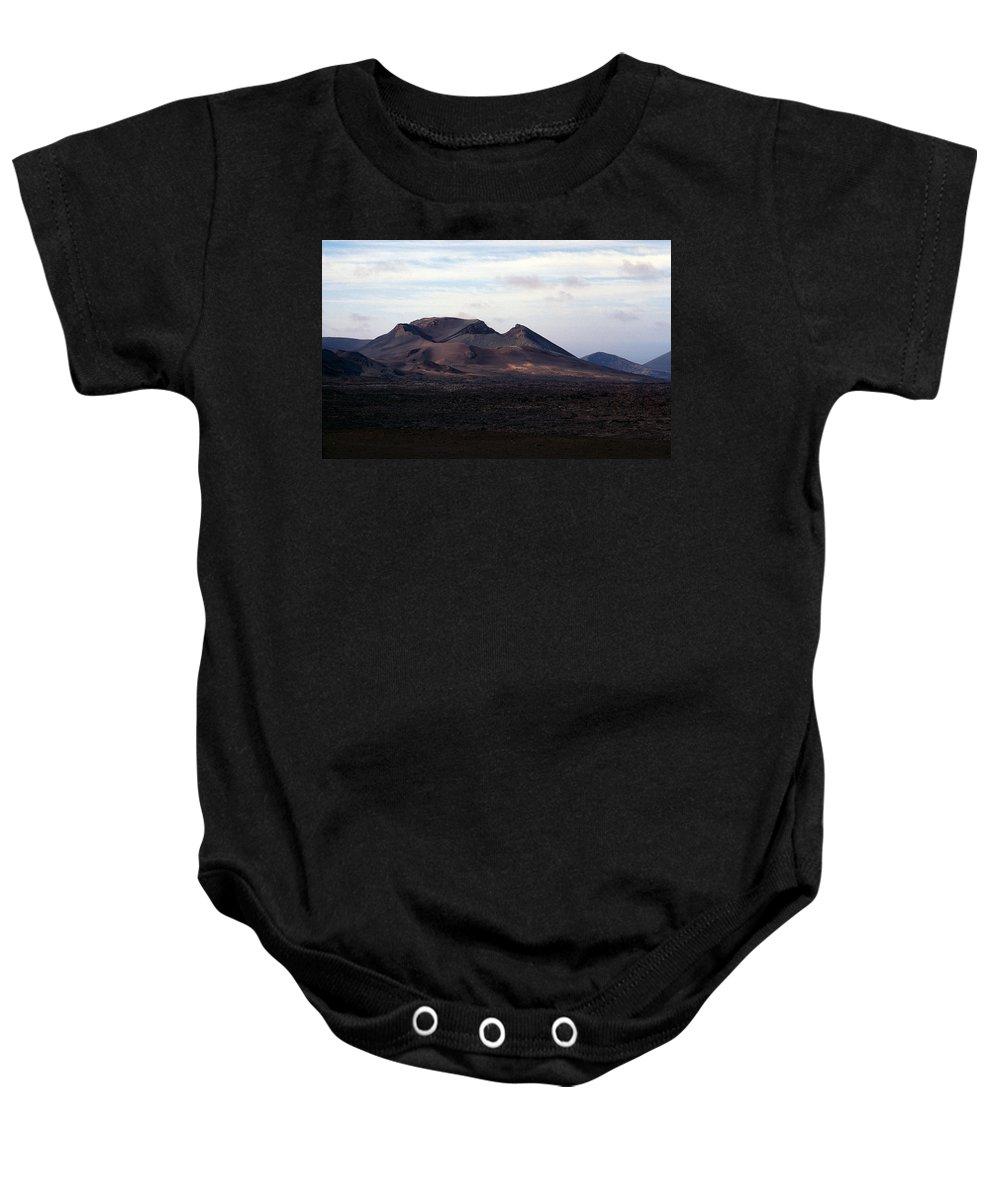 Lehtokukka Baby Onesie featuring the photograph Volcano 1 by Jouko Lehto
