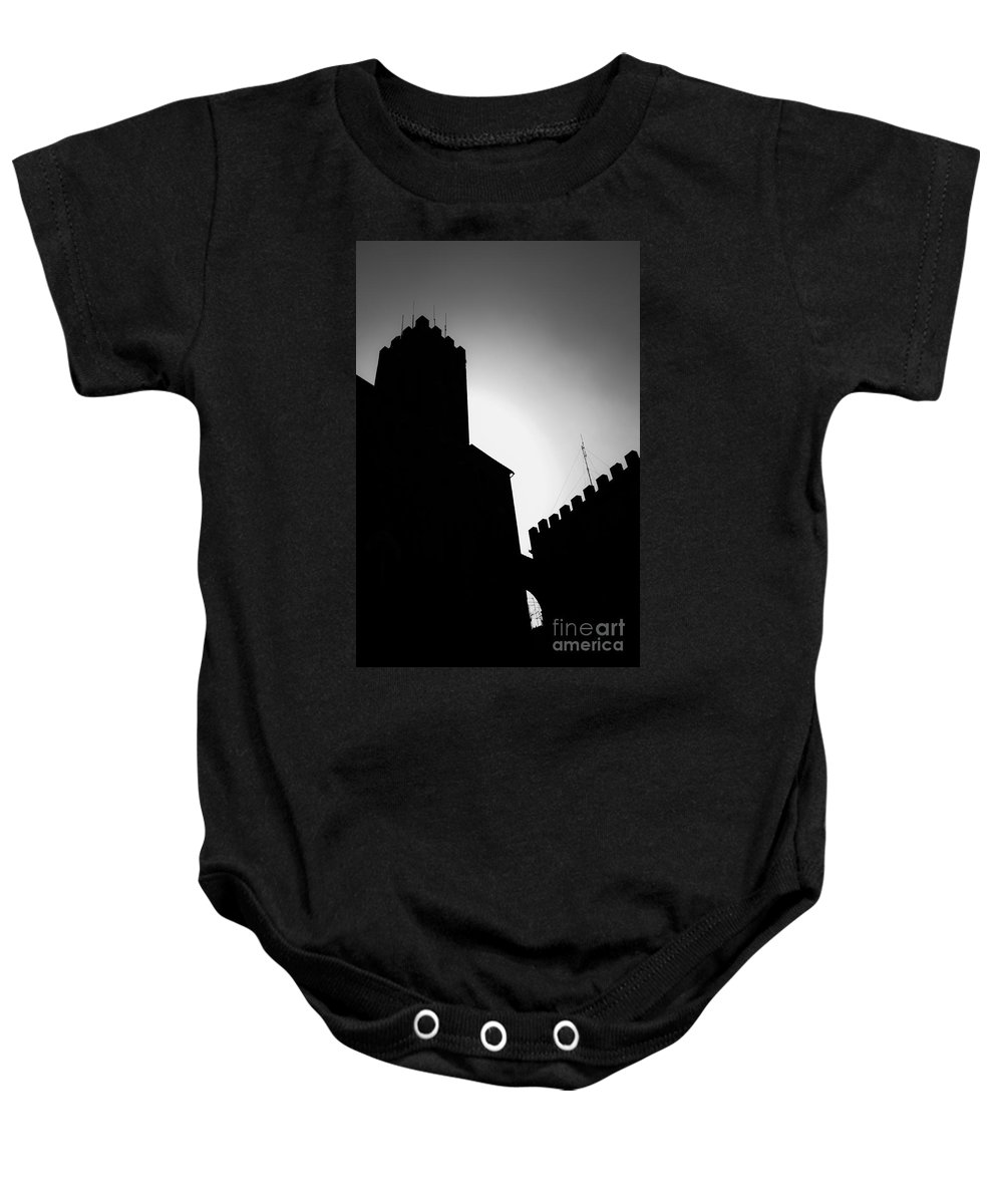 Shadow Baby Onesie featuring the photograph Volterra Italy by Edward Fielding