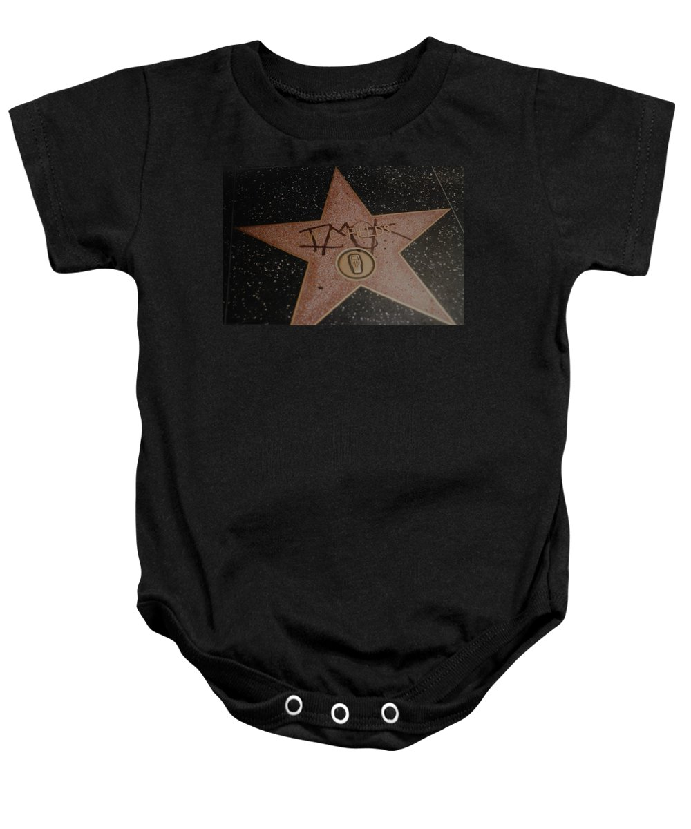 Hollywood Baby Onesie featuring the photograph W C Fields Star by Rob Hans