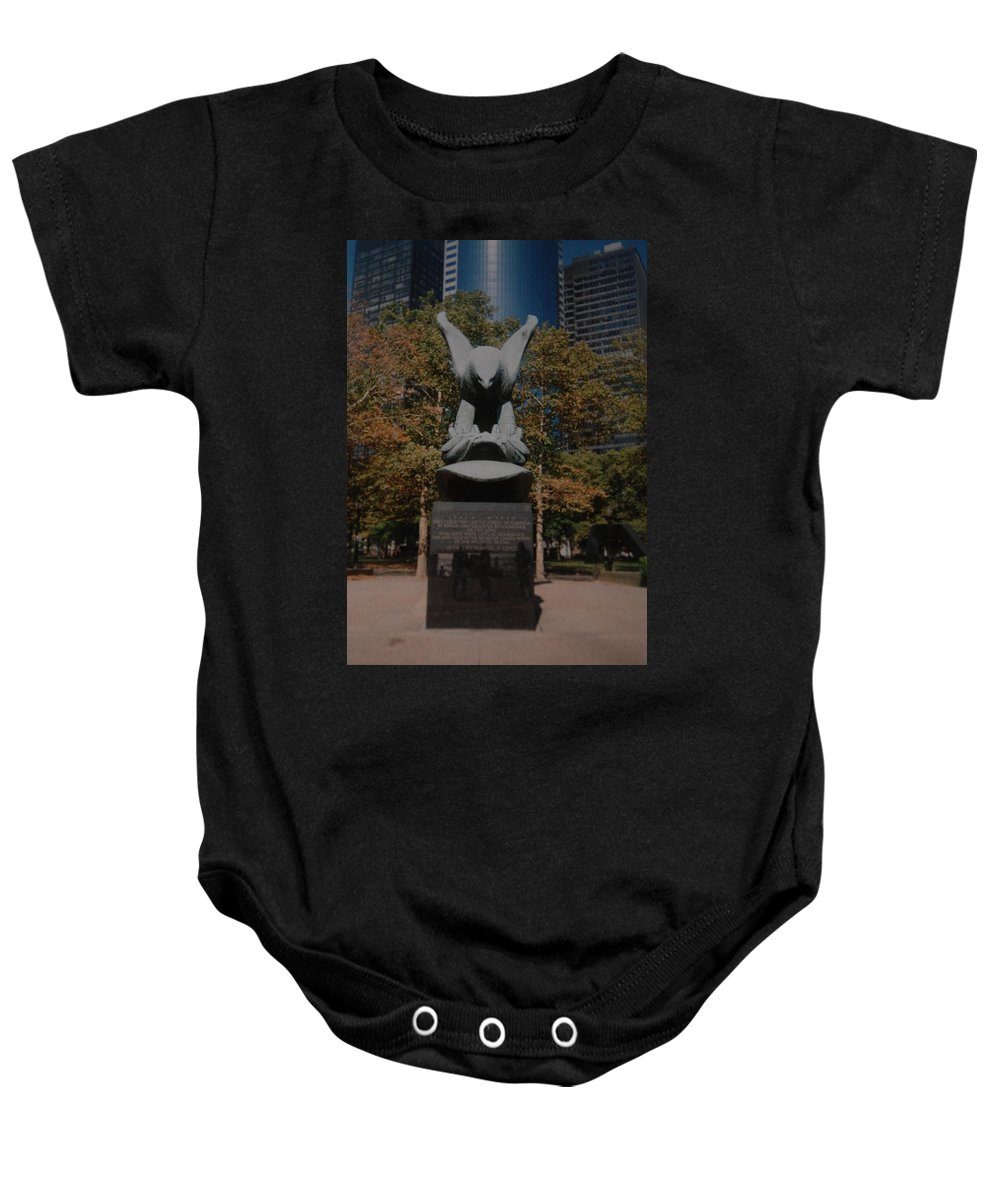 Ww Ii Baby Onesie featuring the photograph W W II Eagle by Rob Hans