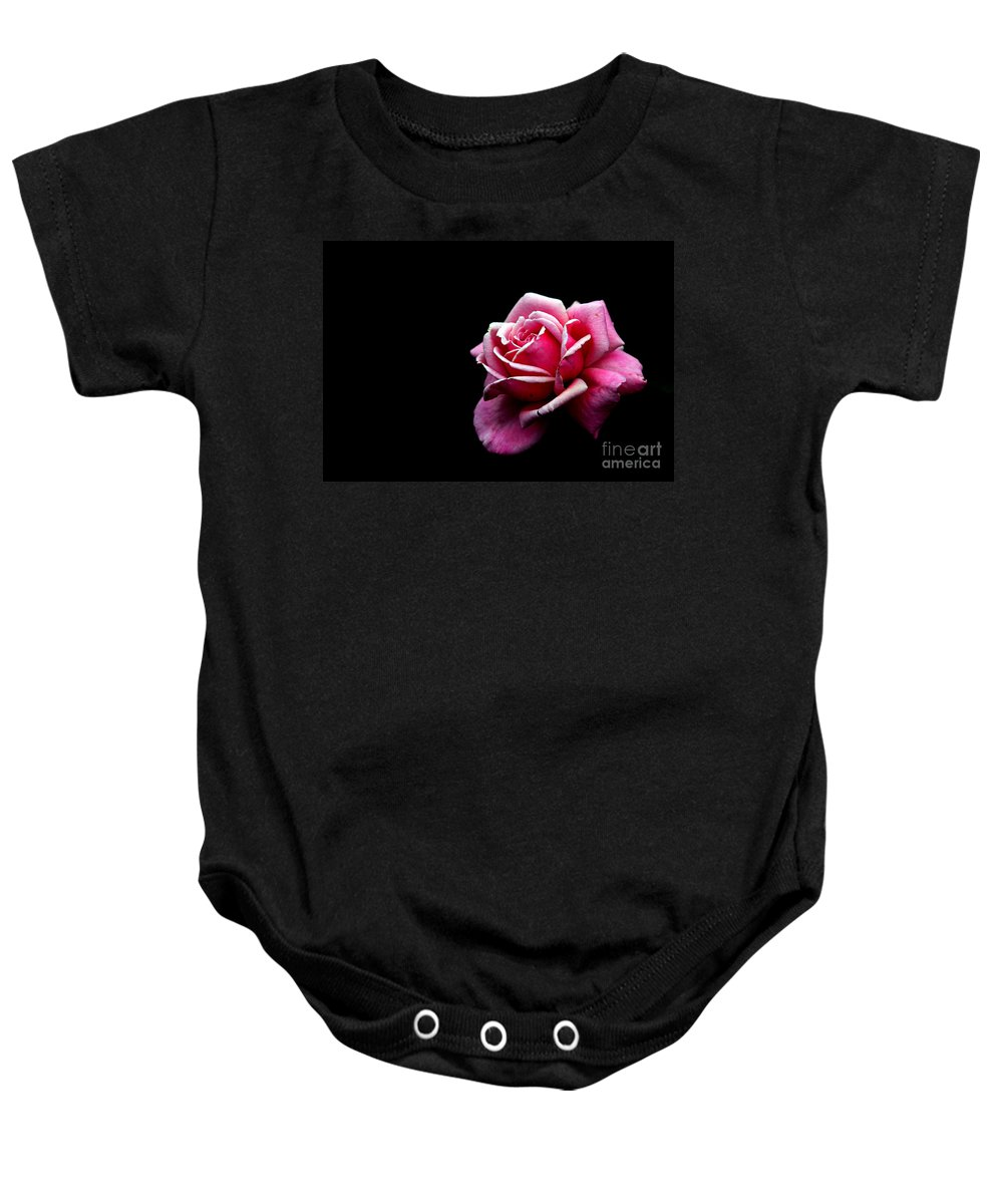 Rose Baby Onesie featuring the photograph Waiting by Amanda Barcon