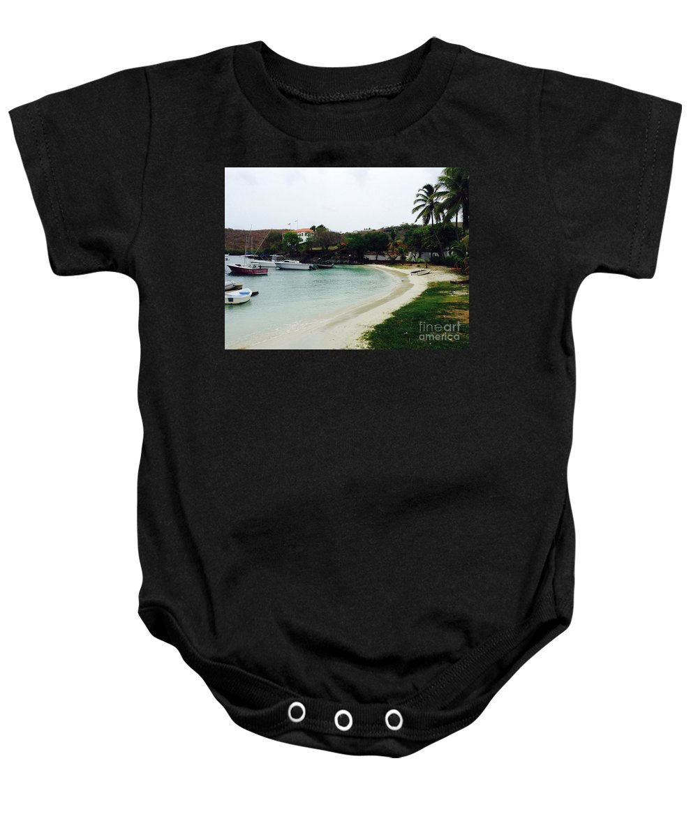 St. John Baby Onesie featuring the photograph Waiting For A Ride by Gina Sullivan