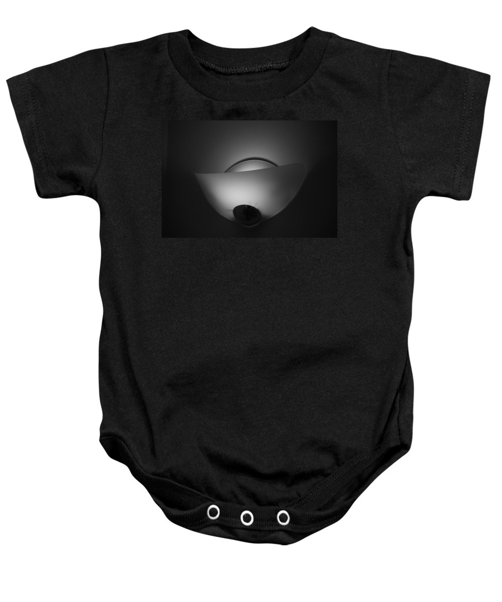 Light Baby Onesie featuring the photograph Wall Light by Rob Hans